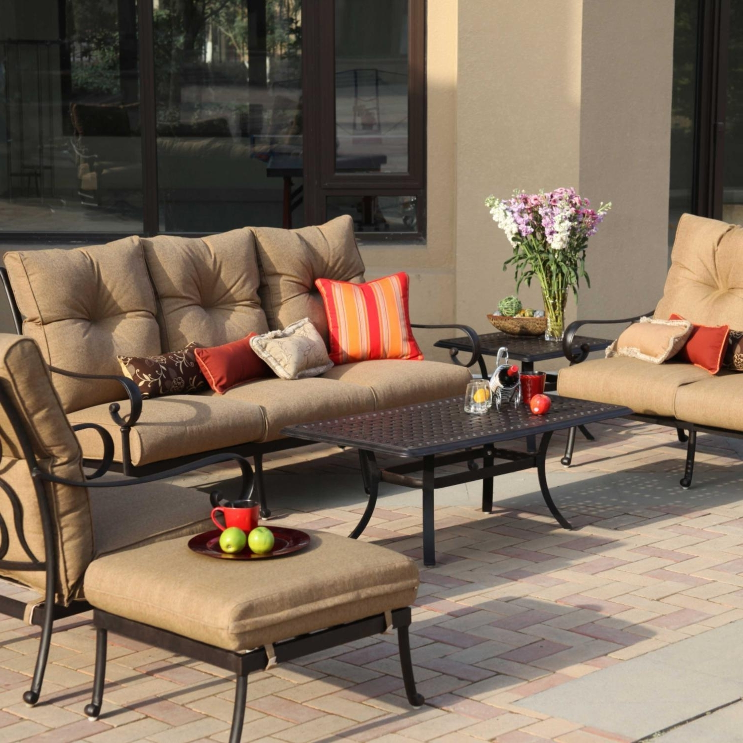 Well Known Cast Aluminum Patio Conversation Sets With Regard To Darlee Santa Anita 6 Piece Cast Aluminum Patio Conversation Seating (View 14 of 15)