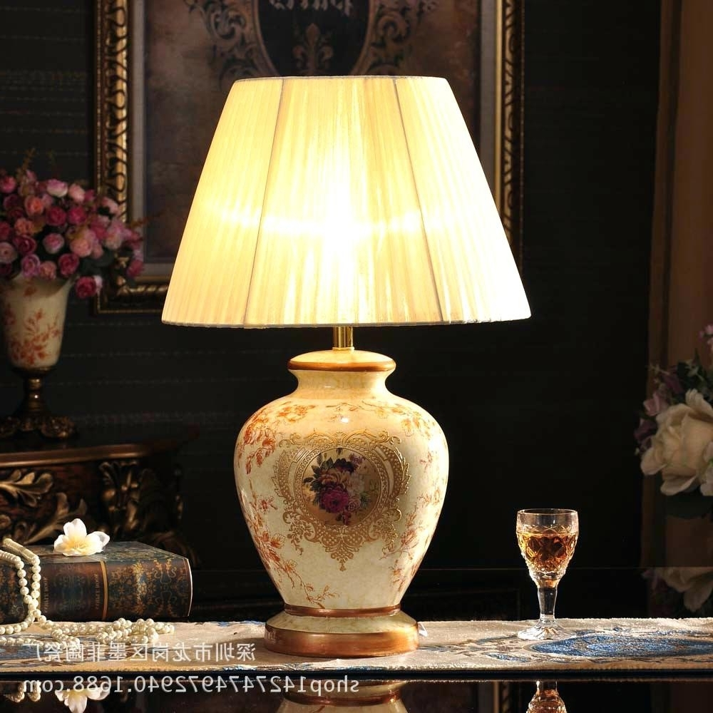 Well Known Ceramic Living Room Table Lamps Regarding Ceramic Table Lamps For Living Room Table Lamps Large Ceramic Table (View 8 of 15)