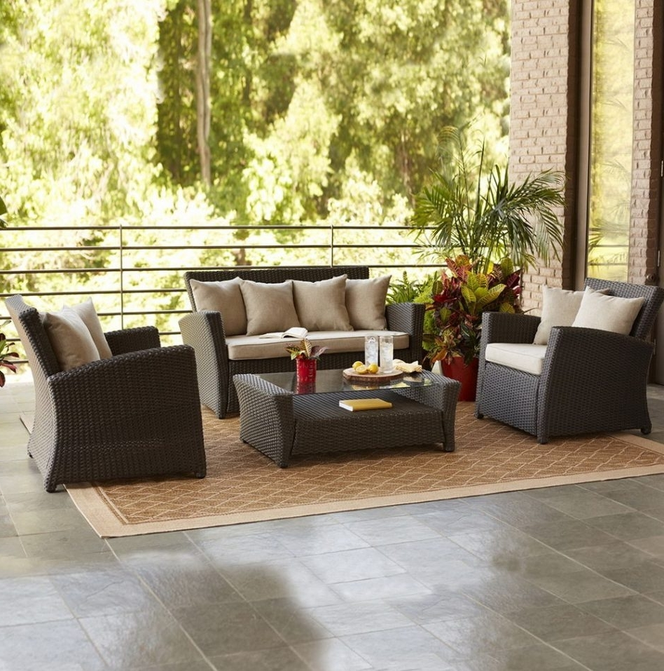 Well Known Lowes Patio Furniture Conversation Sets Within Breathtaking Lowes Conversation Sets 45 Spruce Hills 5 Piece Set (View 15 of 15)