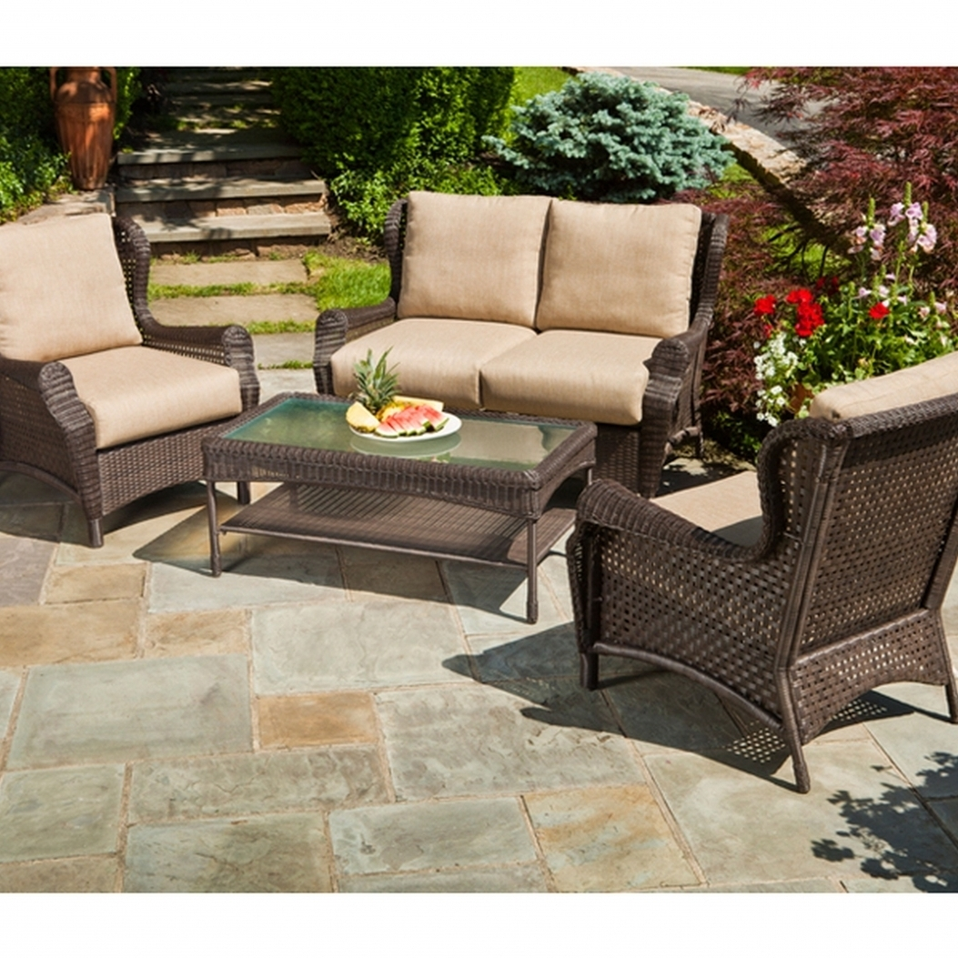 Well Known Outdoor Patio Furniture Resin Wicker Conversation Amcordesign For Resin Conversation Patio Sets (View 6 of 15)