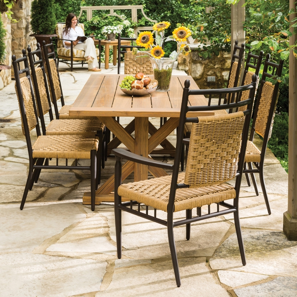 Well Known Patio Conversation Sets With Dining Table Inside Decorate A Patio Dining Sets Style — Inkandcoda Home Blog (View 14 of 15)