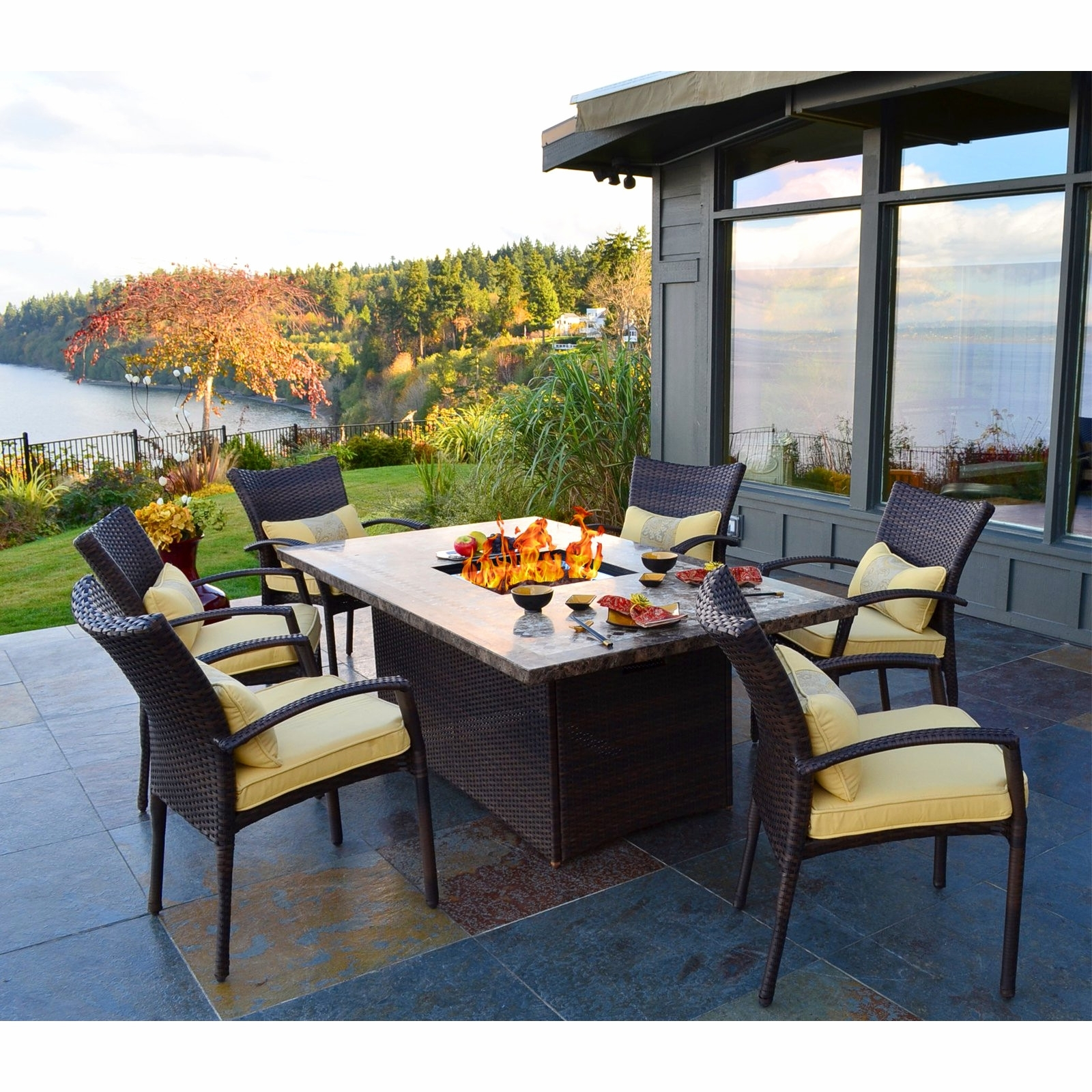 Well Known Patio Conversation Sets With Fire Table For Patio Dining Table With Fire Pit Lovely Conversation Sets Fire Pit (View 15 of 15)