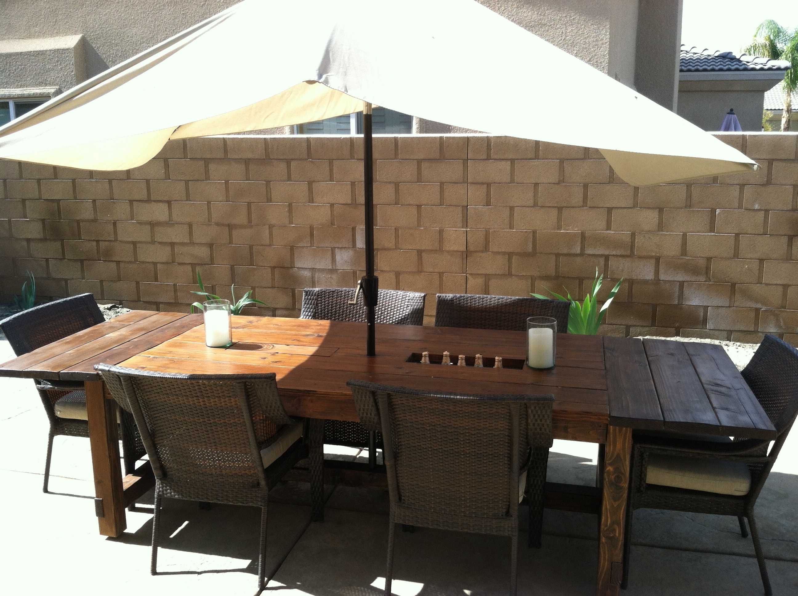 Well Known Patio Conversation Sets With Umbrella For Patio : Patio Table Umbrella Patio Table (View 10 of 15)