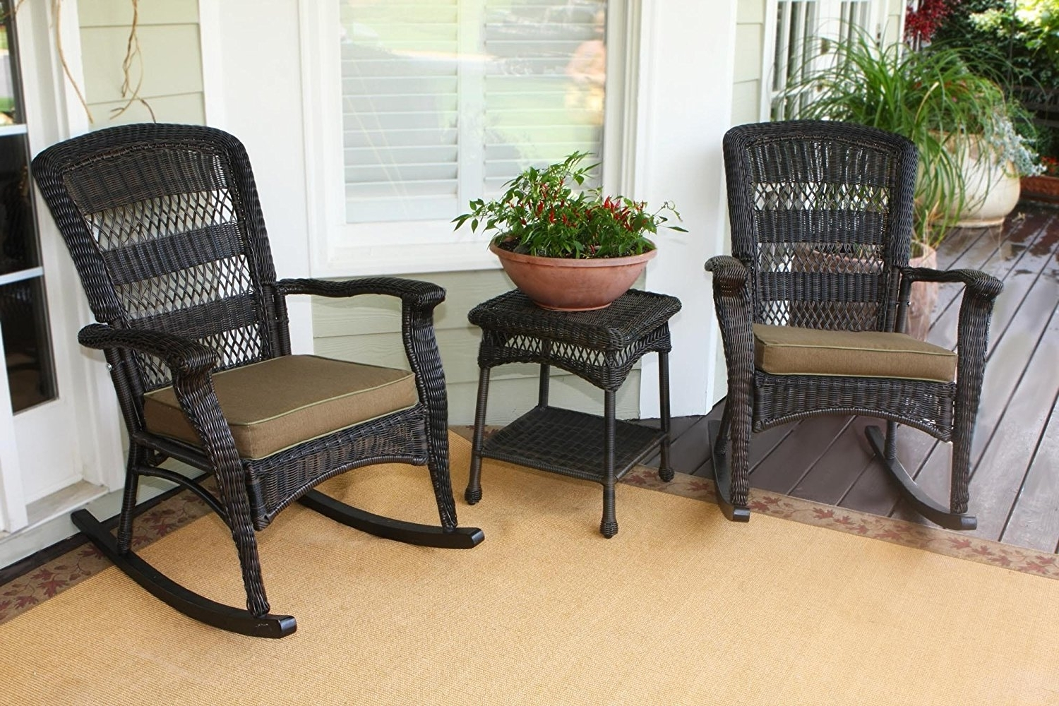 Well Known Patio Rocking Chairs With Cushions With Outdoor Rocking Chair Cushions Home : Beautiful Outdoor Rocking (View 15 of 15)