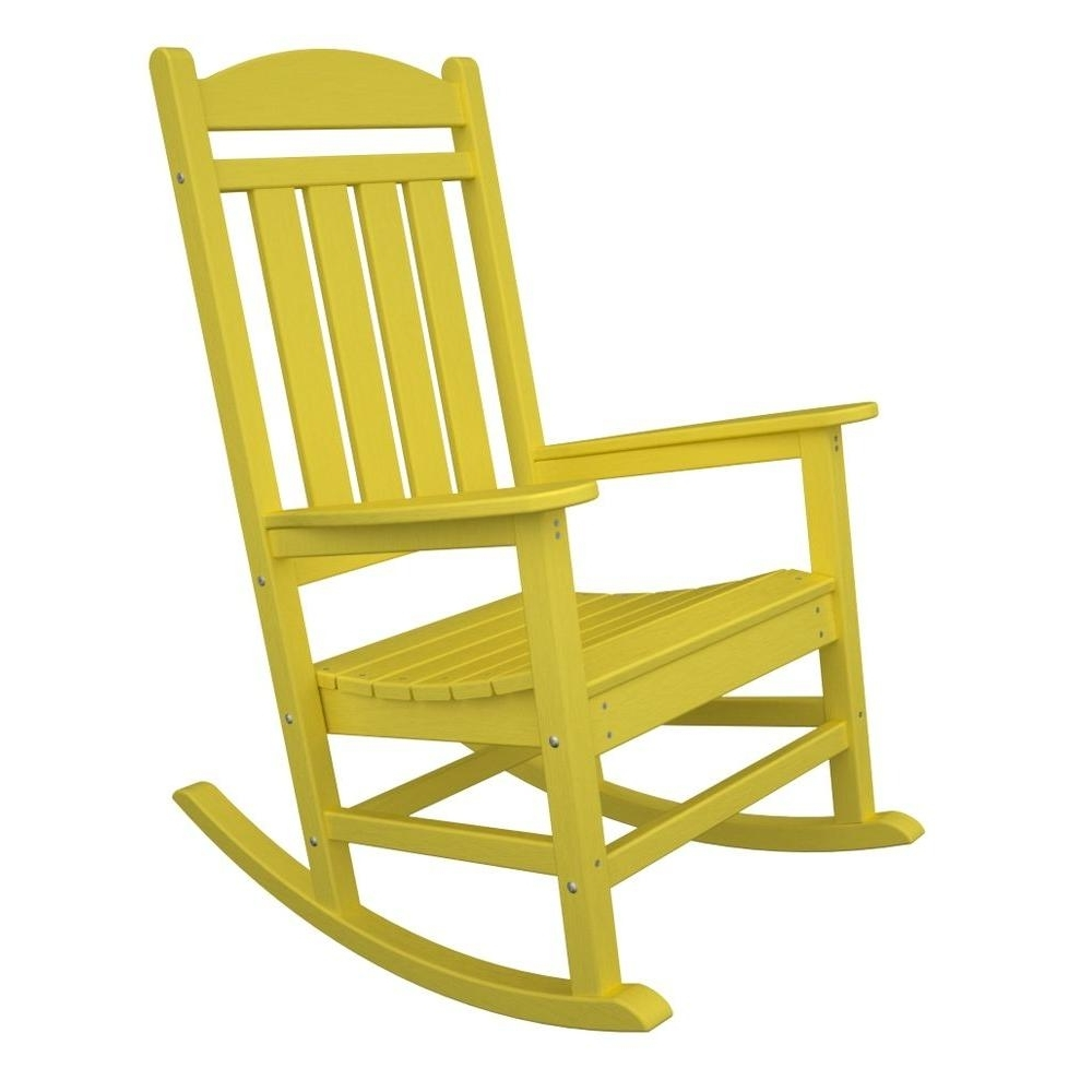 Well Known Polywood Presidential Lemon Patio Rocker R100Le – The Home Depot Throughout Yellow Outdoor Rocking Chairs (View 12 of 15)