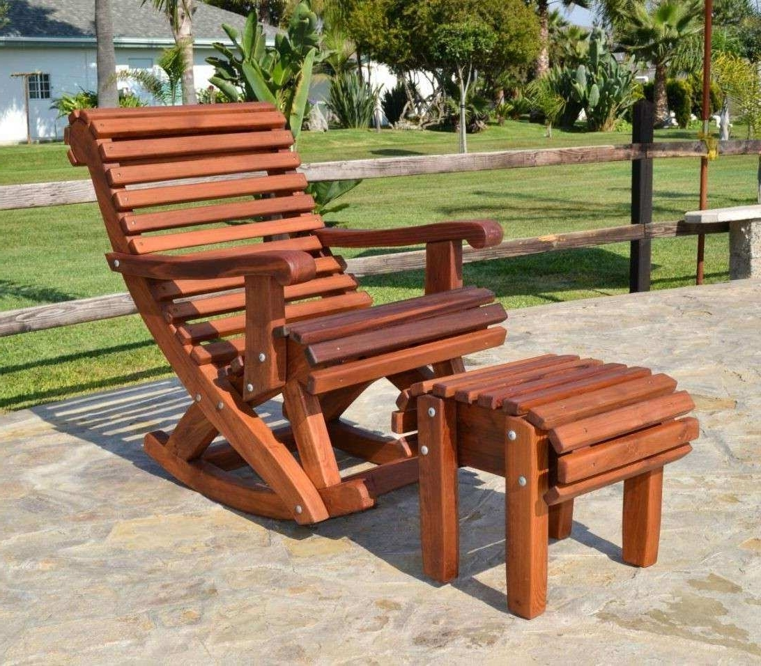 Well Known Rocking Chair Outdoor Wooden With Regard To Outdoor Wooden Furniture Elegant Ideas For Paint Outdoor Wooden (View 14 of 15)