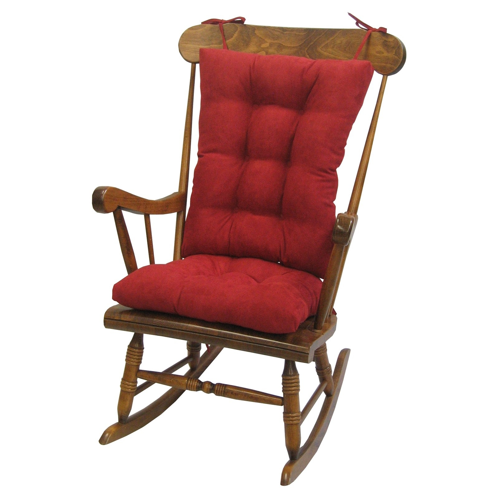 Well Known Rocking Chairs With Cushions Inside Gripper Jumbo Rocking Chair Cushions, Nouveau – Walmart (View 13 of 15)