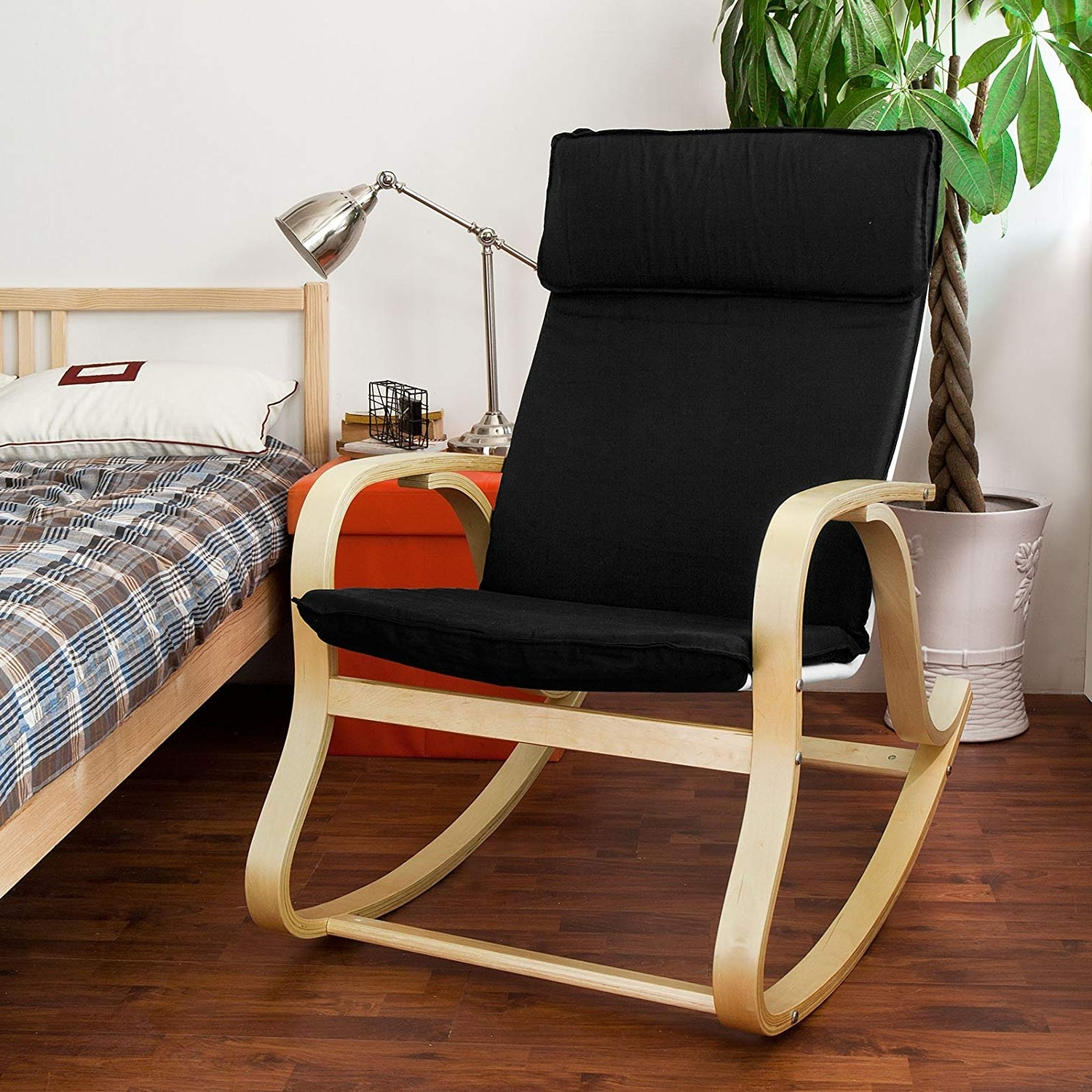 Well Known Rocking Chairs With Footrest In Amazon: Sobuy Wood Relaxing Rocking Chair,gliders,lounge Chair (View 13 of 15)