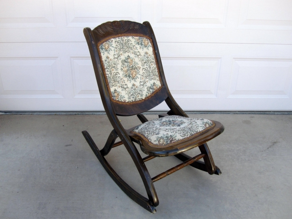 Well Known Rocking Chairs With Springs With Chairs : Antique Rocking Chairs Values Saonaart Within The Most (View 10 of 15)