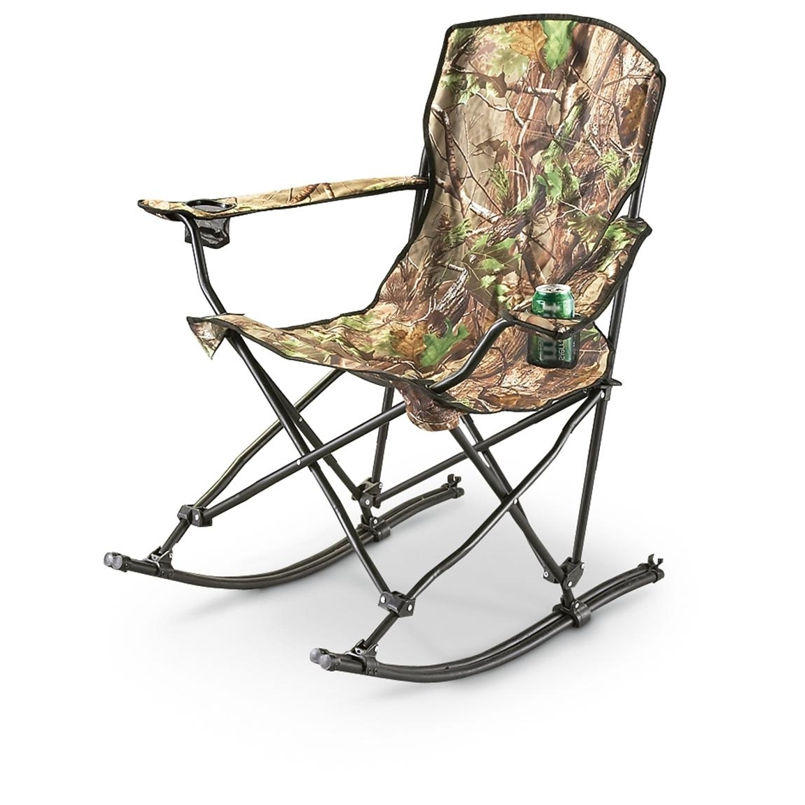 Well Known Stansport™ Team Realtree® Folding Rocking Chair – 178647, Chairs At In Folding Rocking Chairs (View 8 of 15)