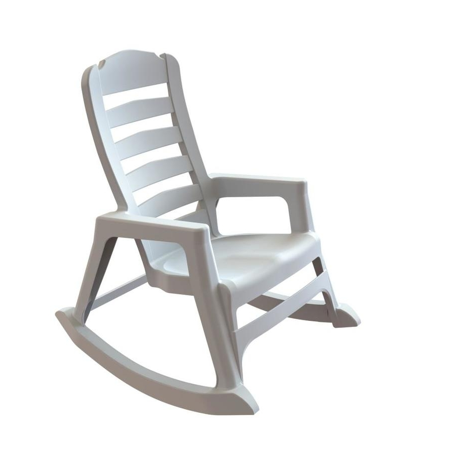 Well Known White Resin Patio Rocking Chairs With Shop Adams Mfg Corp Stackable Resin Rocking Chair At Lowes (View 9 of 15)