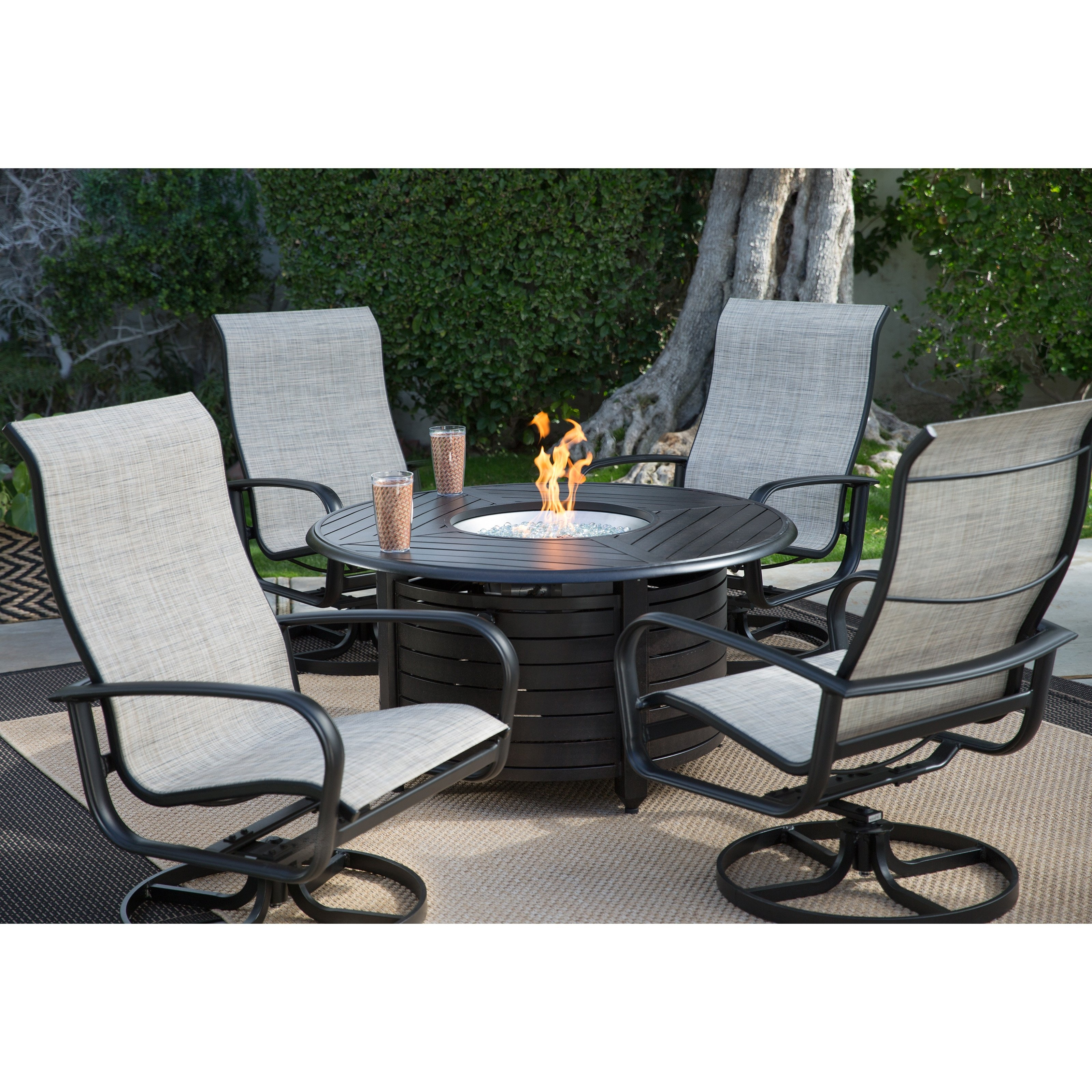 Well Known Wonderful Outdoor Conversation Sets With Fire Pit Belham Living With Sling Patio Conversation Sets (View 7 of 15)