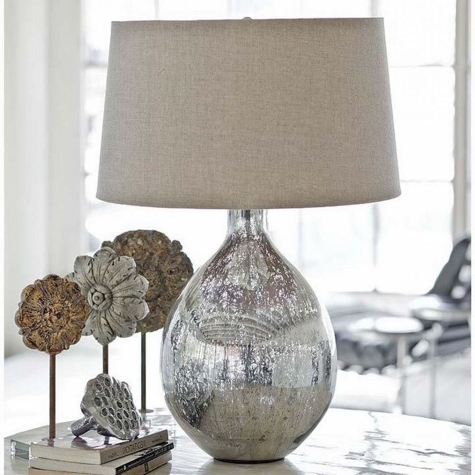 Well Liked Living Room Table Lamp Shades Pertaining To Living Room : Living Room End Table Lamps With Silver Glitter Table (View 15 of 15)