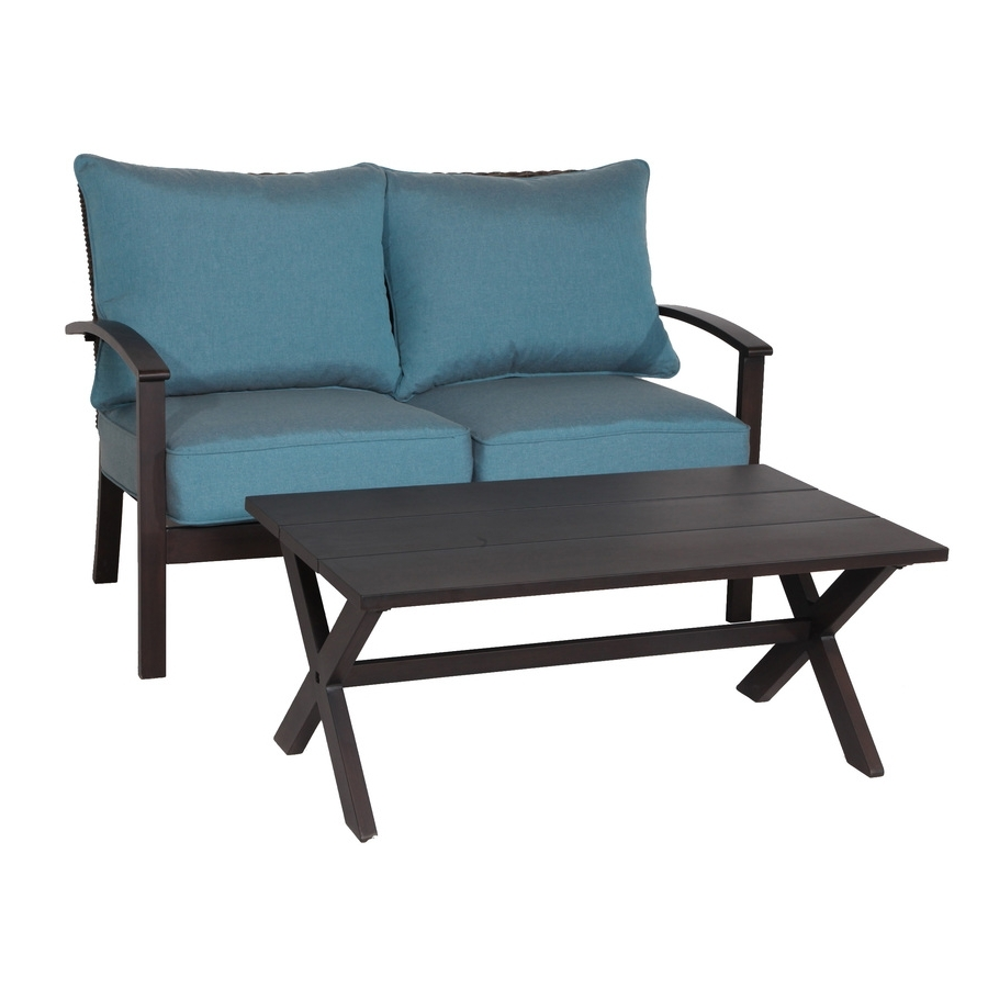 Well Liked Patio Conversation Sets With Glider With Regard To Shop Patio Conversation Sets At Lowes (View 7 of 15)