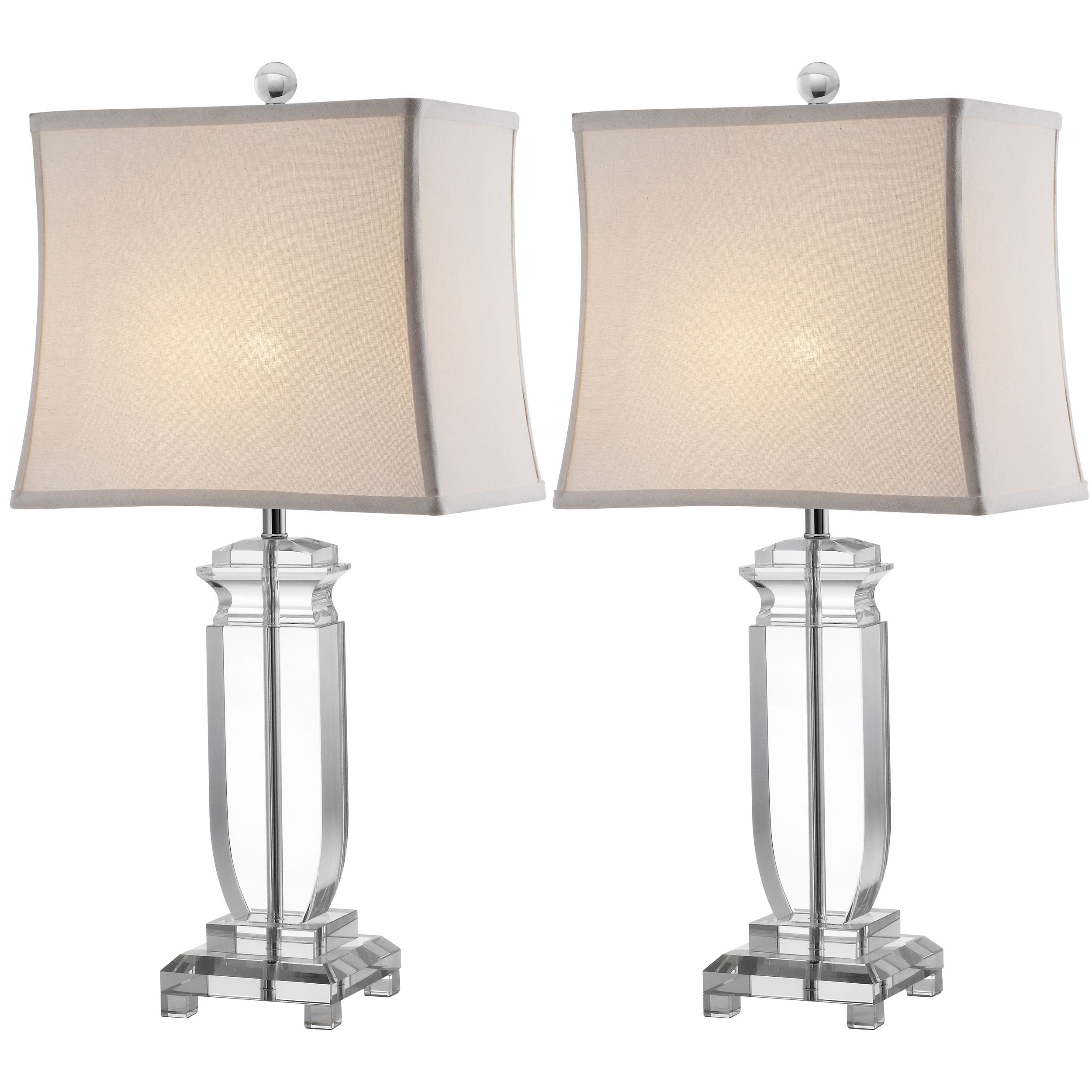 Well Liked Safavieh Lighting 25 Inch Olympia Crystal Table Lamps (Set Of 2 With Set Of 2 Living Room Table Lamps (View 14 of 15)