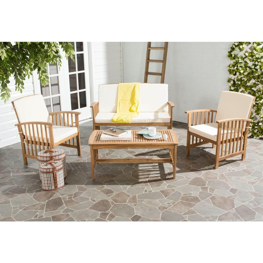 Well Liked Teak – Patio Conversation Sets – Outdoor Lounge Furniture – The Home With Patio Conversation Sets Under $ (View 15 of 15)