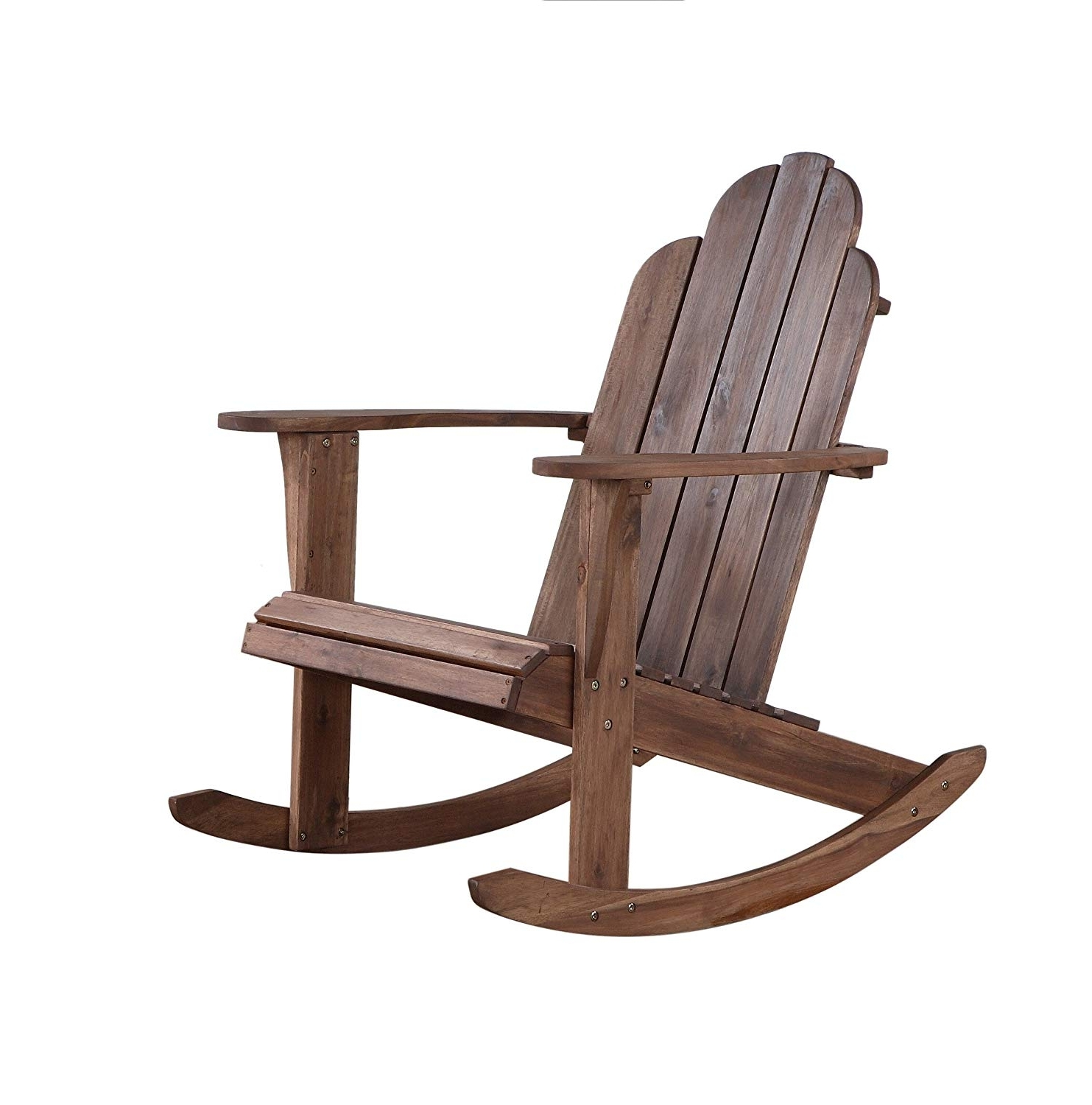 Well Liked Teak Patio Rocking Chairs Inside Amazon: Linon Woodstock Rocking Chair, Teak: Kitchen & Dining (View 13 of 15)