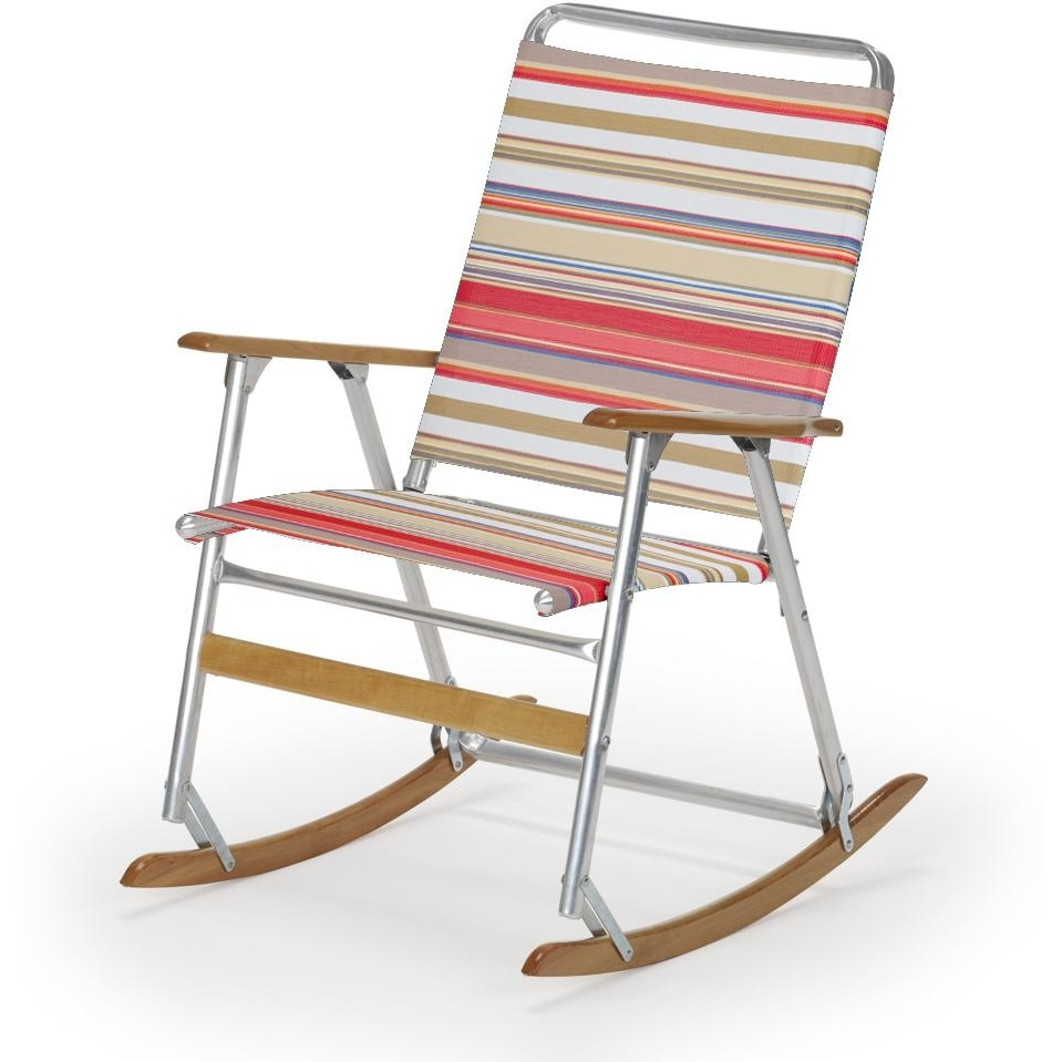 Well Liked Telescope Casual Telaweave Folding Aluminum Rocking Beach Chair For Folding Rocking Chairs (View 15 of 15)