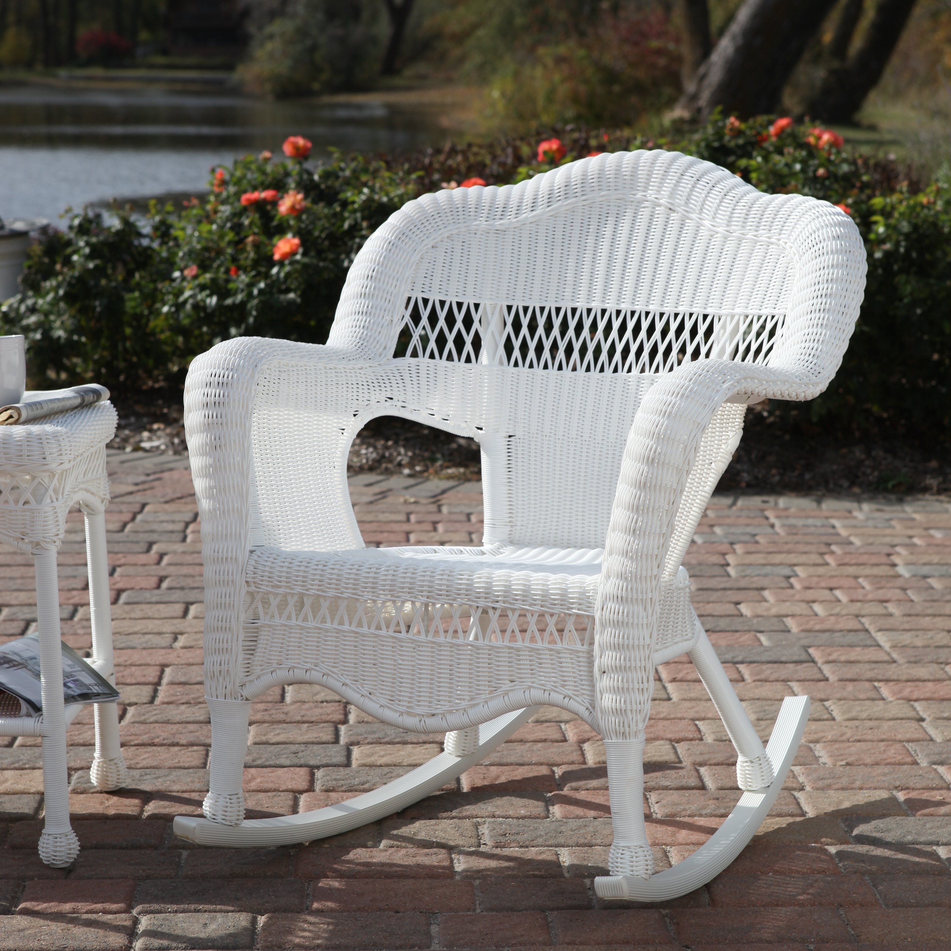 White Patio Rocking Chairs In Well Liked Sahara All Weather Wicker Rocking Chair (View 10 of 15)