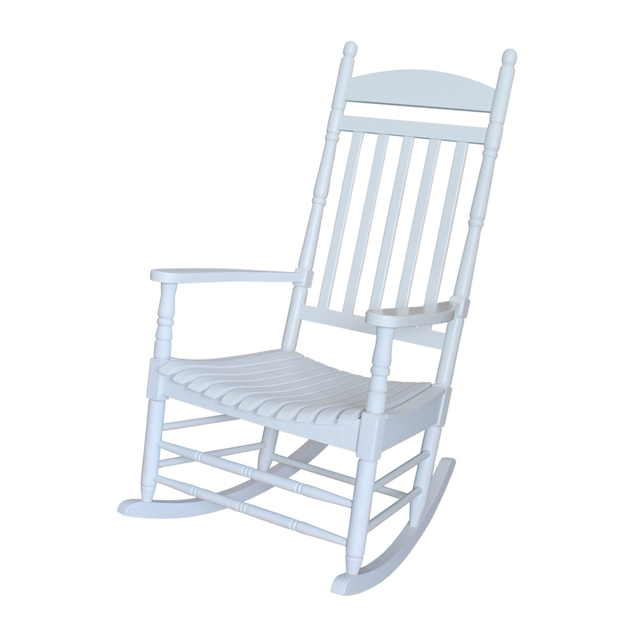 White Patio Rocking Chairs Regarding Popular Shop International Concepts Acacia Rocking Chair With Slat Seat At (View 11 of 15)