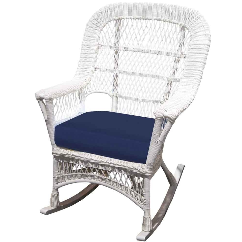 White Patio Rocking Chairs Throughout Most Recent Front Porch Furniture // Wicker – Wicker (View 13 of 15)