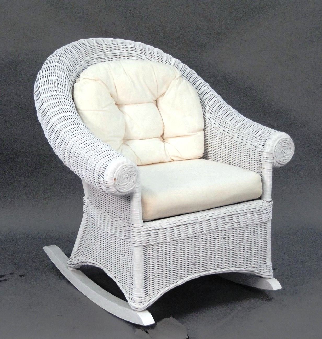 White Resin Patio Rocking Chairs Within Popular Choosing A White Wicker Rocking Chair – Http://www (View 15 of 15)