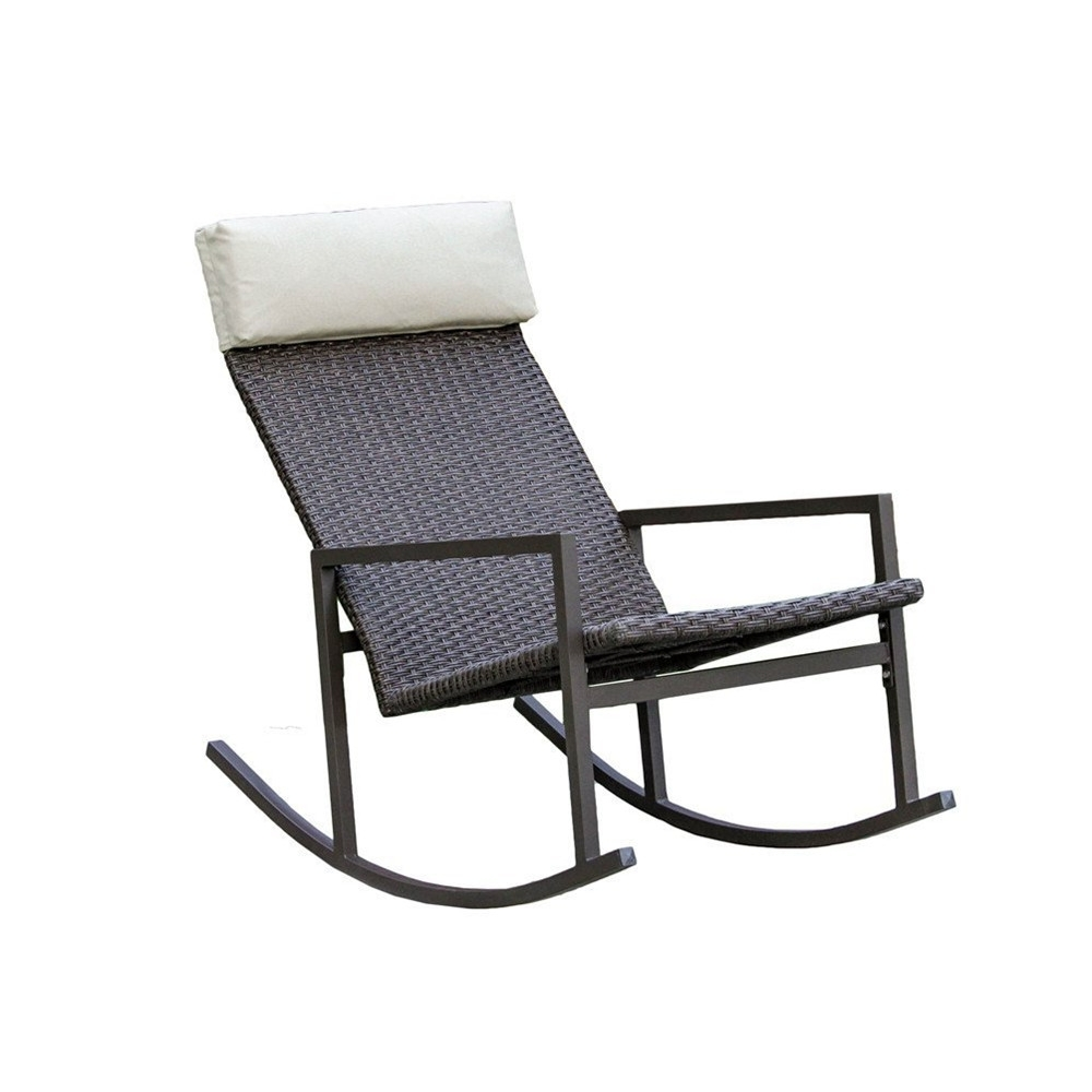Wicker Rocking Chairs For Outdoors Throughout Preferred Living Express Stone Harbor Outdoor Rattan Wicker Rocking Chair (View 14 of 15)
