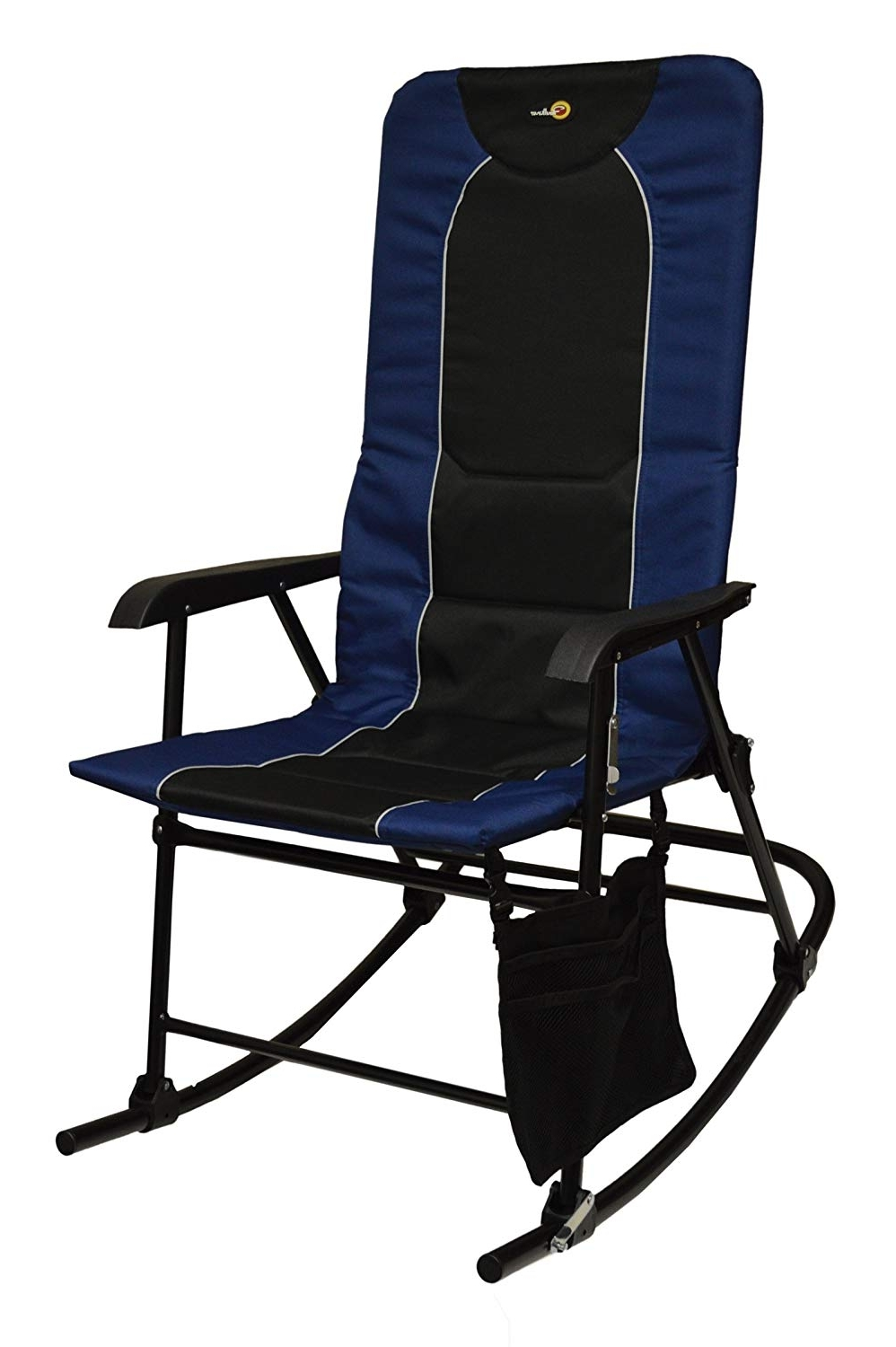 Widely Used Amazon : Faulkner 49598 Dakota Rocking Chair, Blue/black With Regard To Padded Patio Rocking Chairs (View 10 of 15)