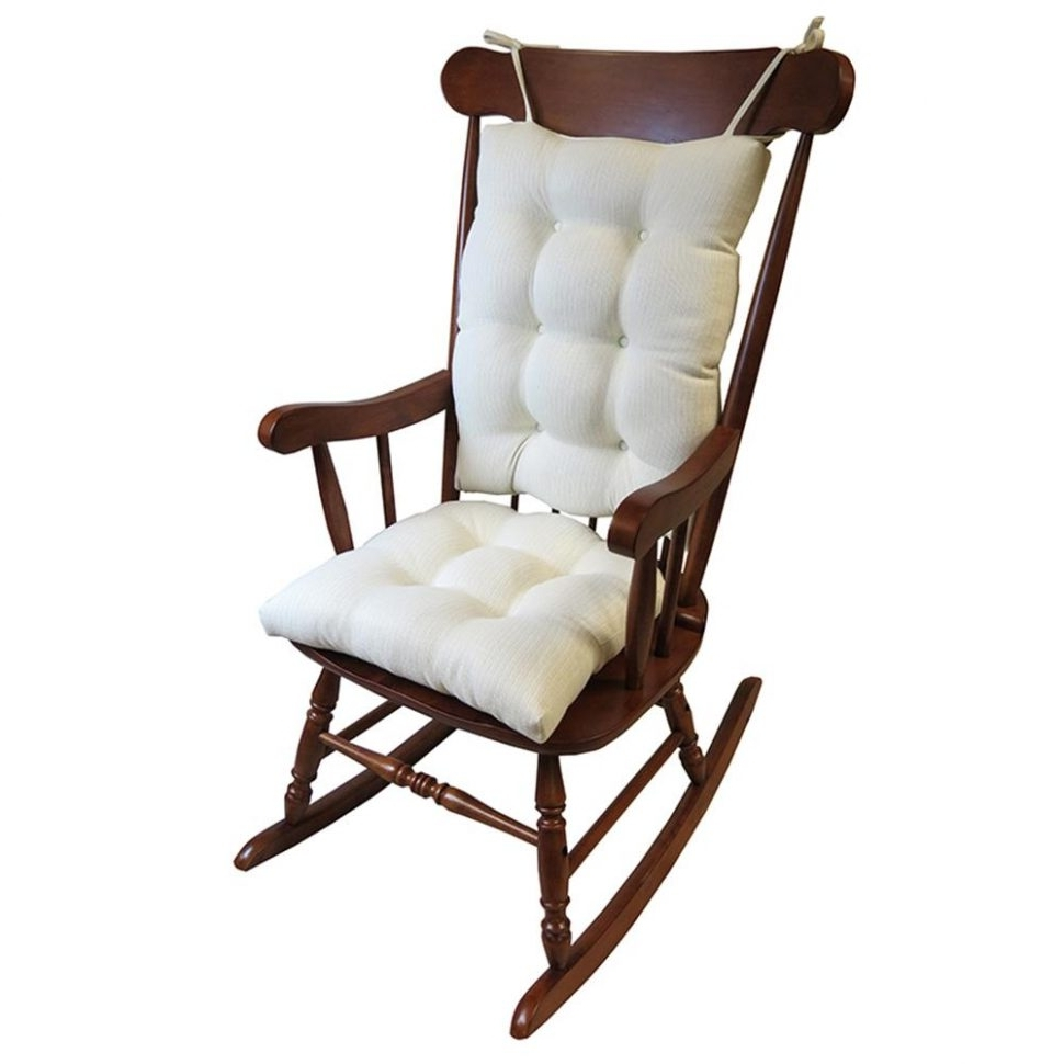 Widely Used Cushion : Flash Furniture Hard Ivory Vinyl Chiavari Chair Cushion Within Rocking Chair Cushions For Outdoor (View 15 of 15)