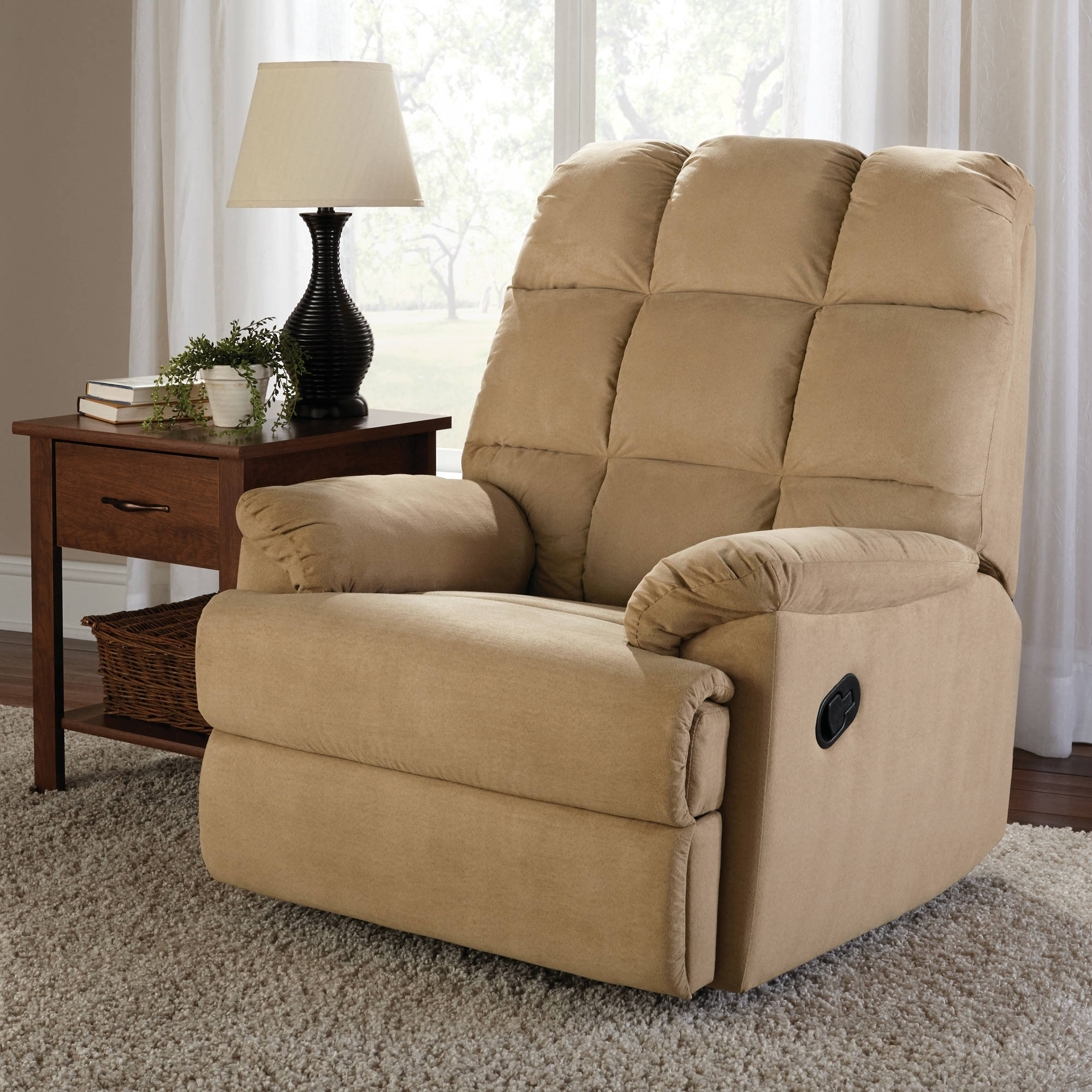 Widely Used Mainstays Microsuede Rocker Recliner – Walmart For Walmart Rocking Chairs (View 14 of 15)