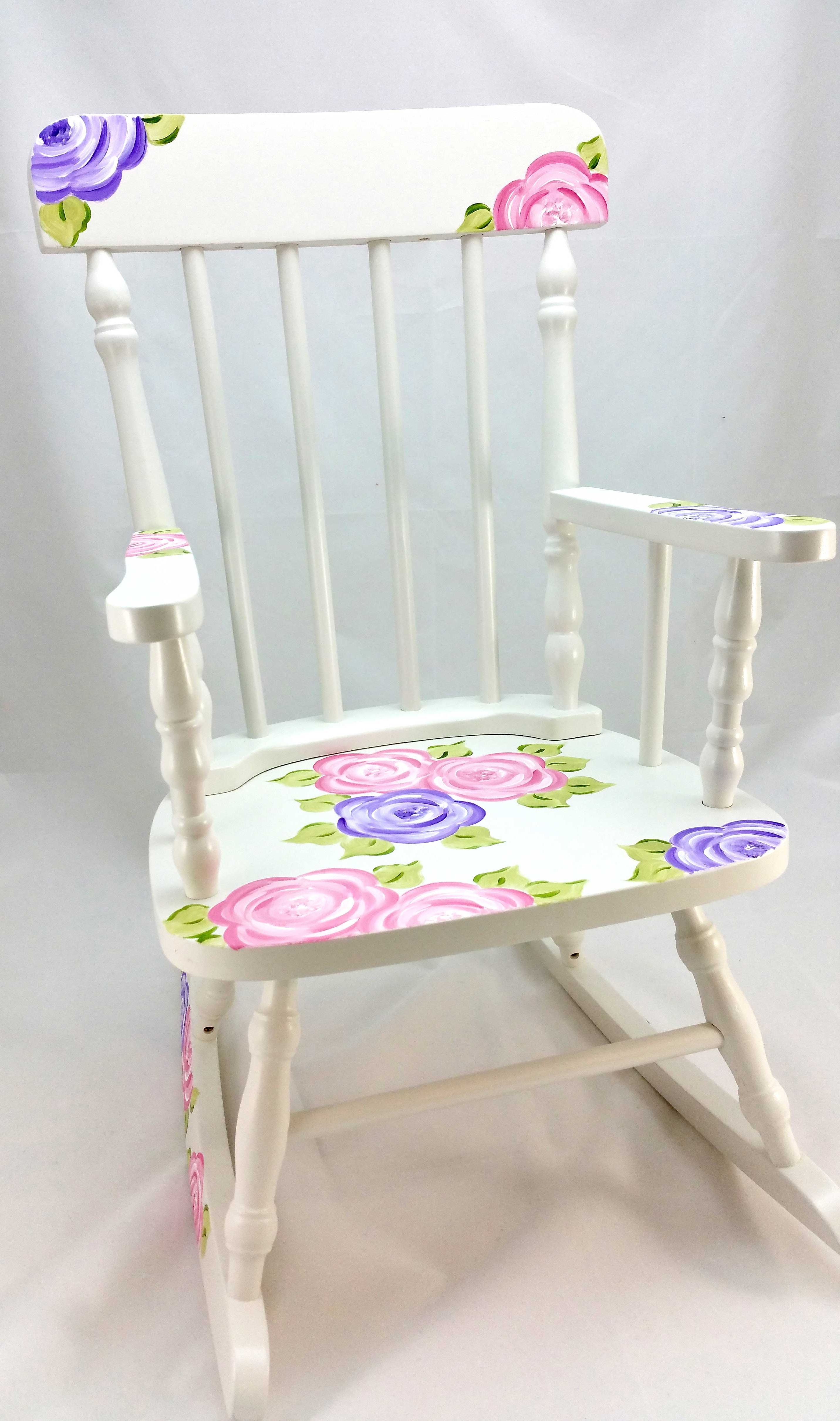 Widely Used Mod Roses Personalized Rocking Chair – Purple Pumpkin Gifts With Rocking Chairs At Roses (View 6 of 15)