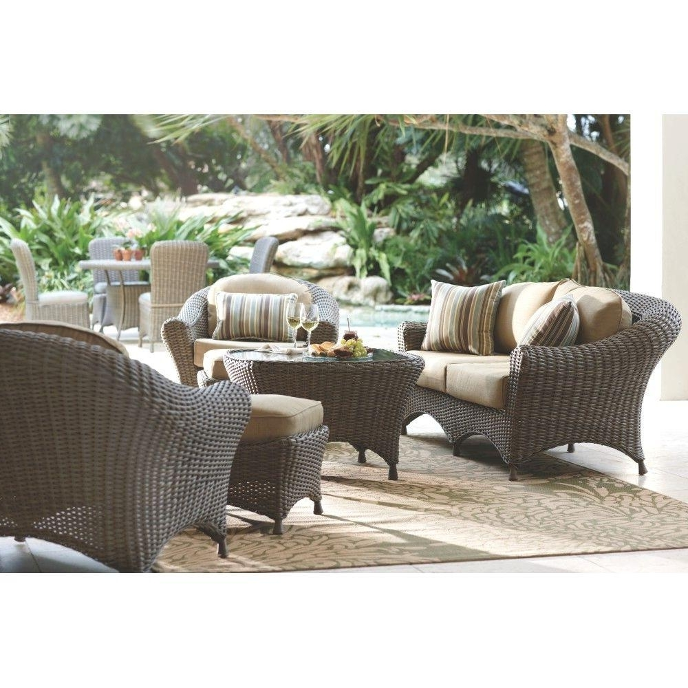 Widely Used Patio Conversation Sets At Home Depot Intended For Martha Stewart Living Lake Adela Weathered Gray 6 Piece Patio (View 15 of 15)