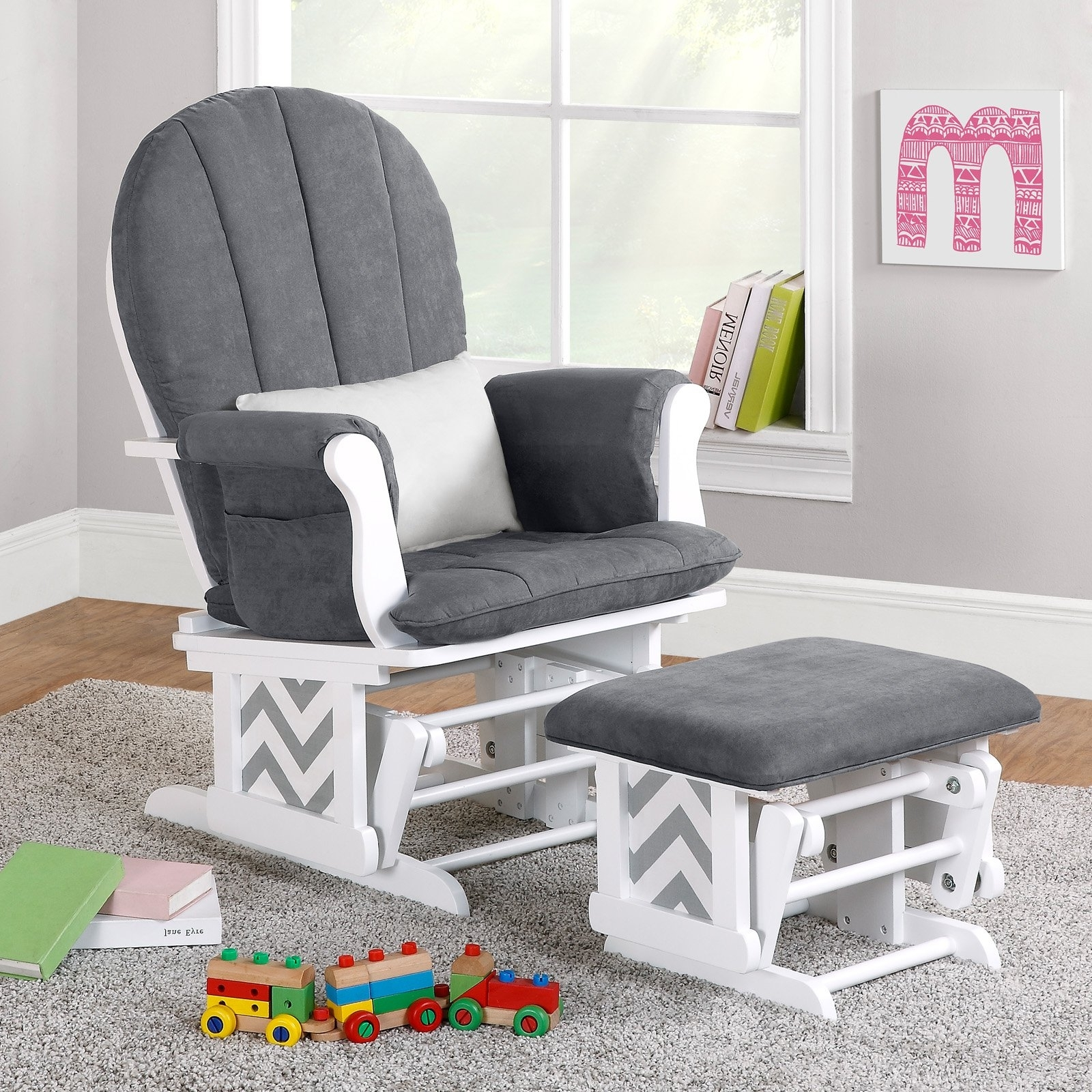 Widely Used Rocking Chairs For Nursery Regarding Furniture: Nursery Classicsklaussner Landis Swivel Glider Rocker (View 15 of 15)