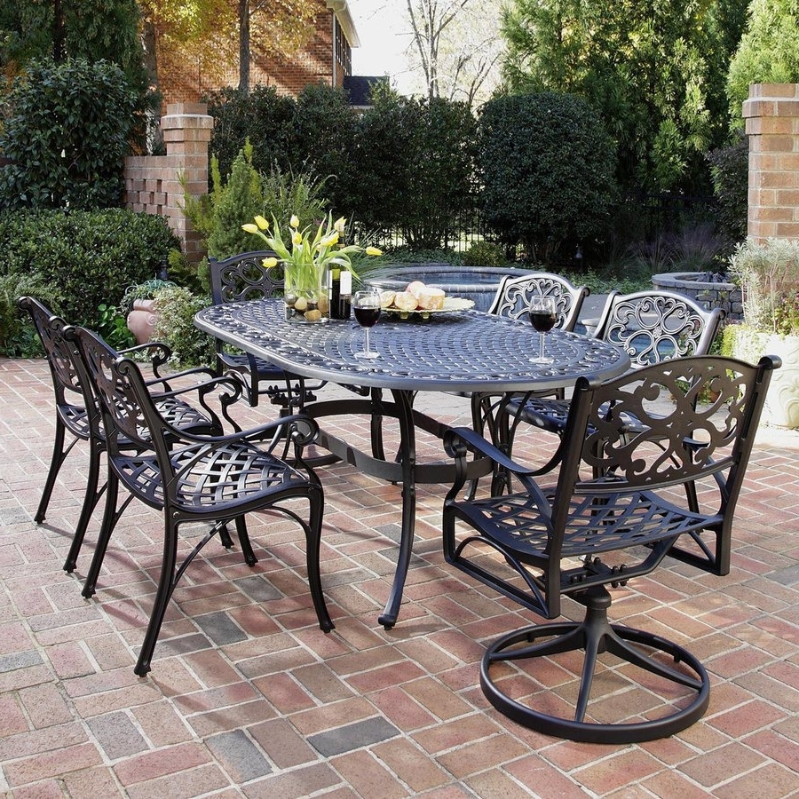 Widely Used Shop Patio Dining Sets At Lowes With Black Aluminum Patio Conversation Sets (View 3 of 15)