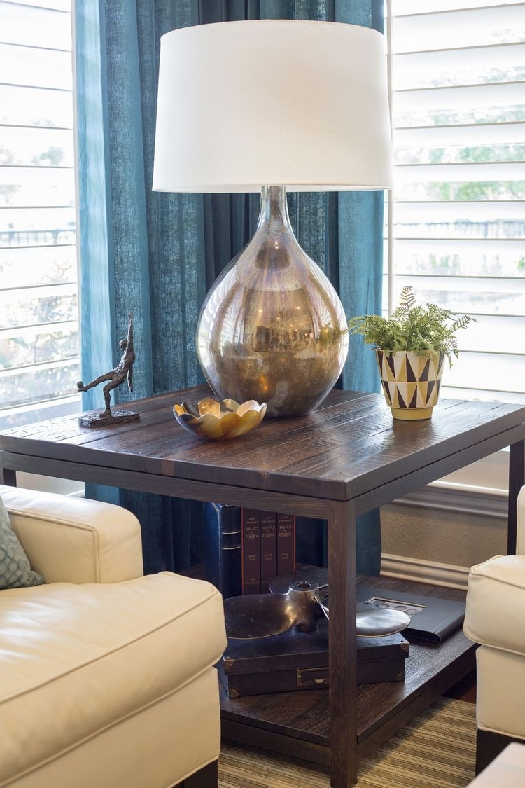 Widely Used Transitional Living Room Table Lamps With Before & After: This Living Room & Kitchen Remodel Shows How (View 15 of 15)