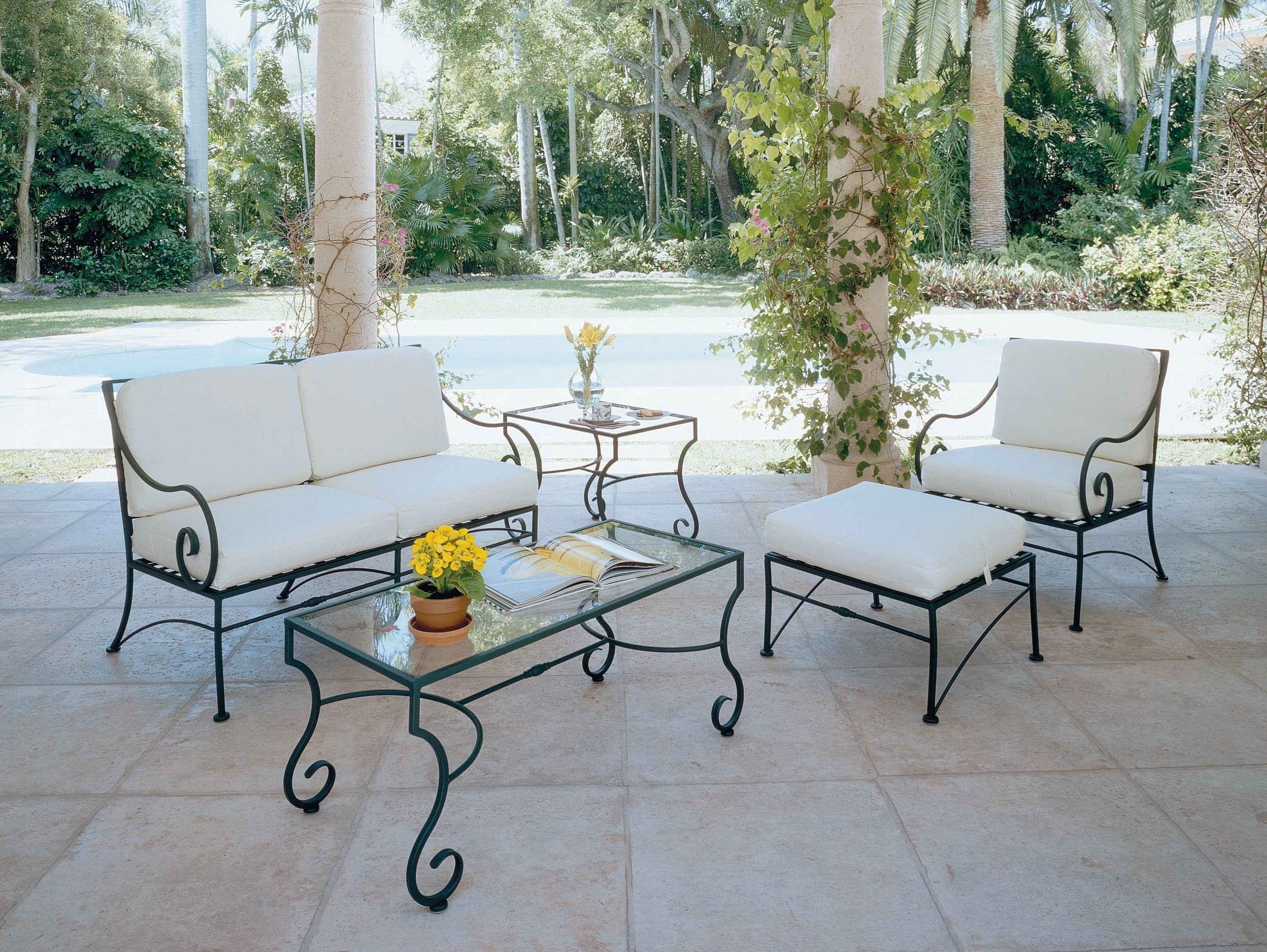 Widely Used Wrought Iron Patio Conversation Sets With Patio : Rot Iron Patio Furniture Wrought Refinishing Outdoor Cast (View 11 of 15)