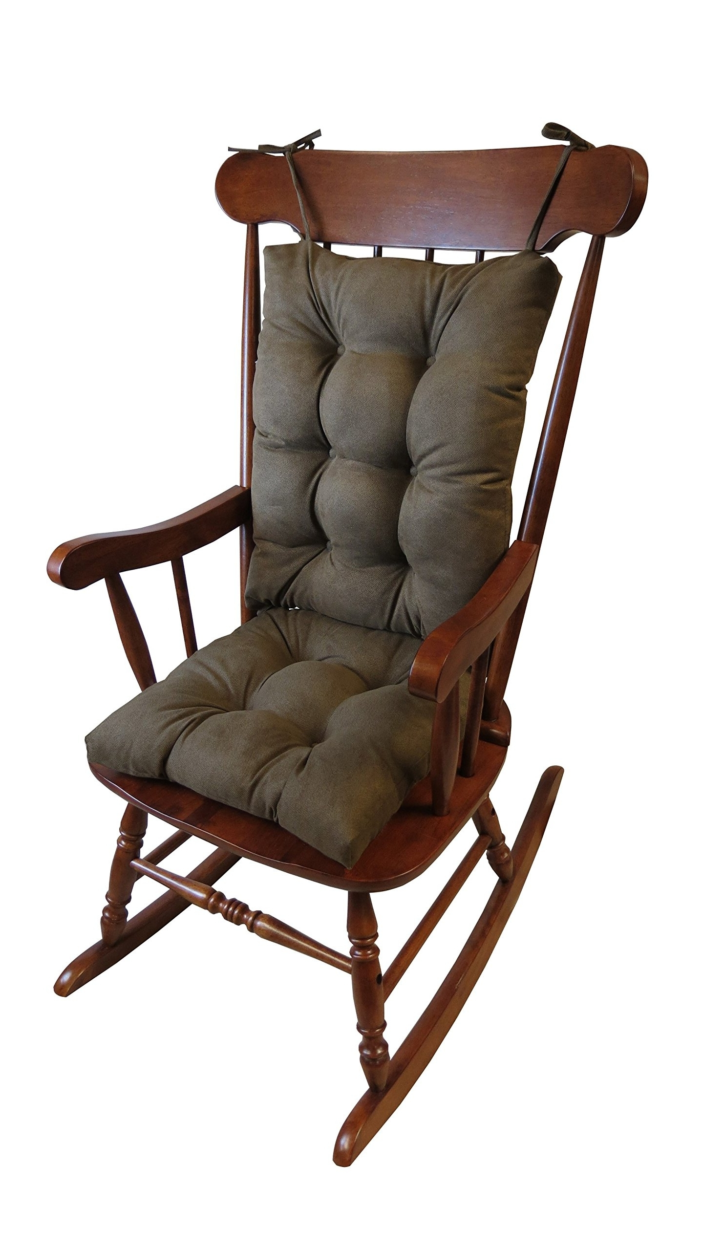 Widely Used Xl Rocking Chairs Throughout Rocking Chair Cushion Wooden Antique Seat Back Armchair Porch Living (View 3 of 15)