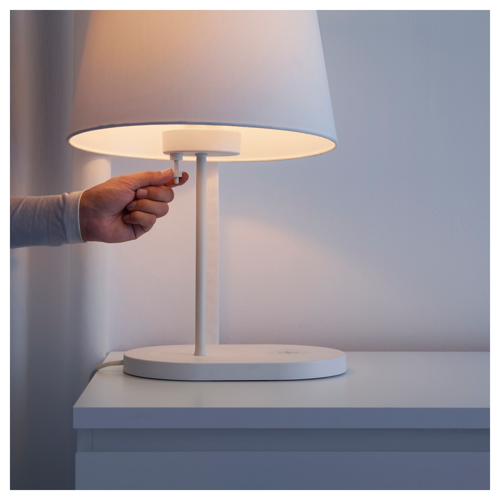 Wireless Living Room Table Lamps With Favorite Varv Table Lamp Base W/wireless Charging – Ikea (View 11 of 15)