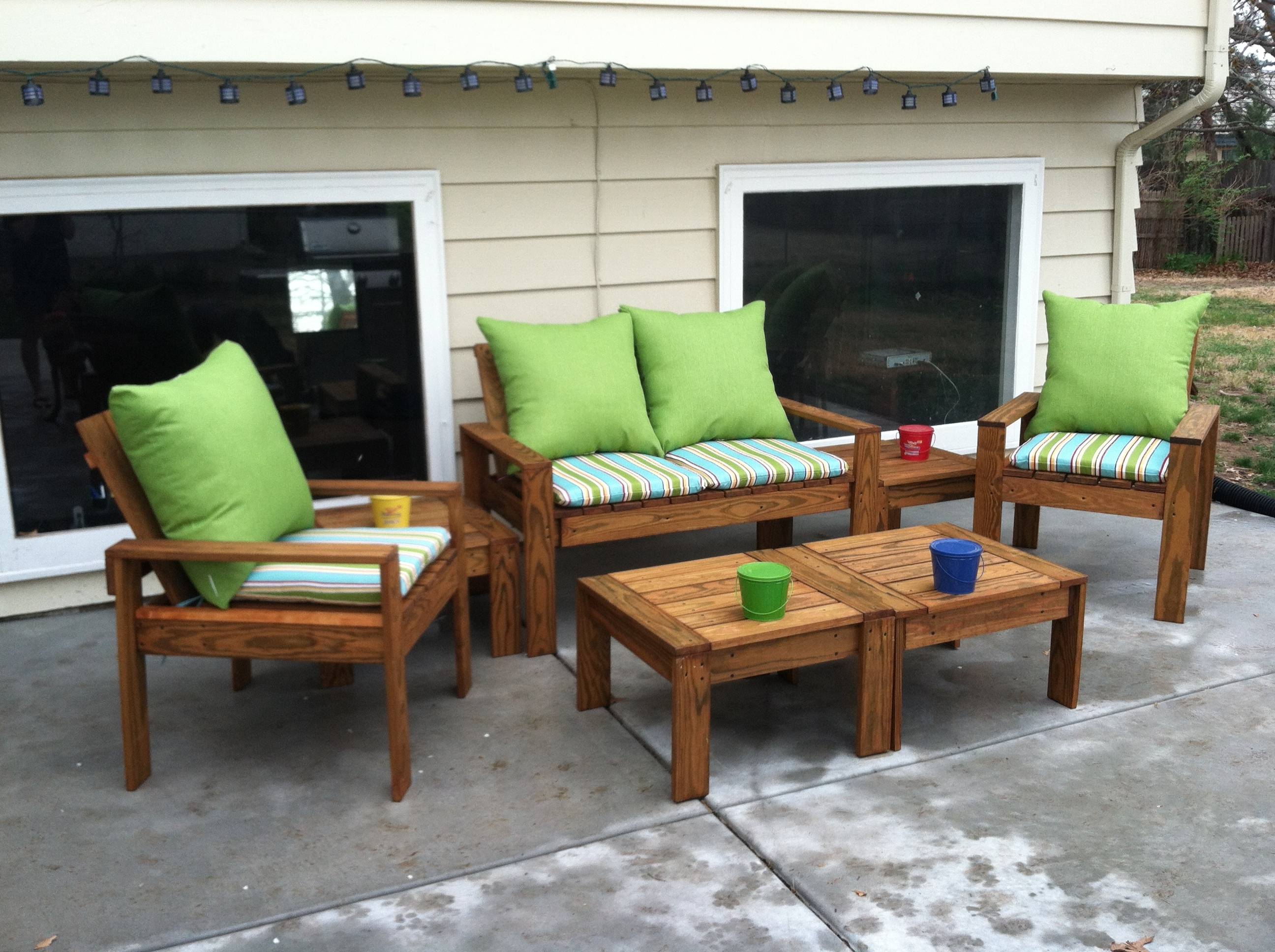 Featured Photo of Wood Patio Furniture Conversation Sets