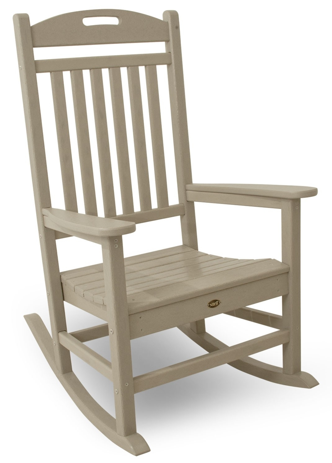 Wooden Patio Rocking Chairs Pertaining To Well Known Yacht Club Rocking Chair (View 13 of 15)