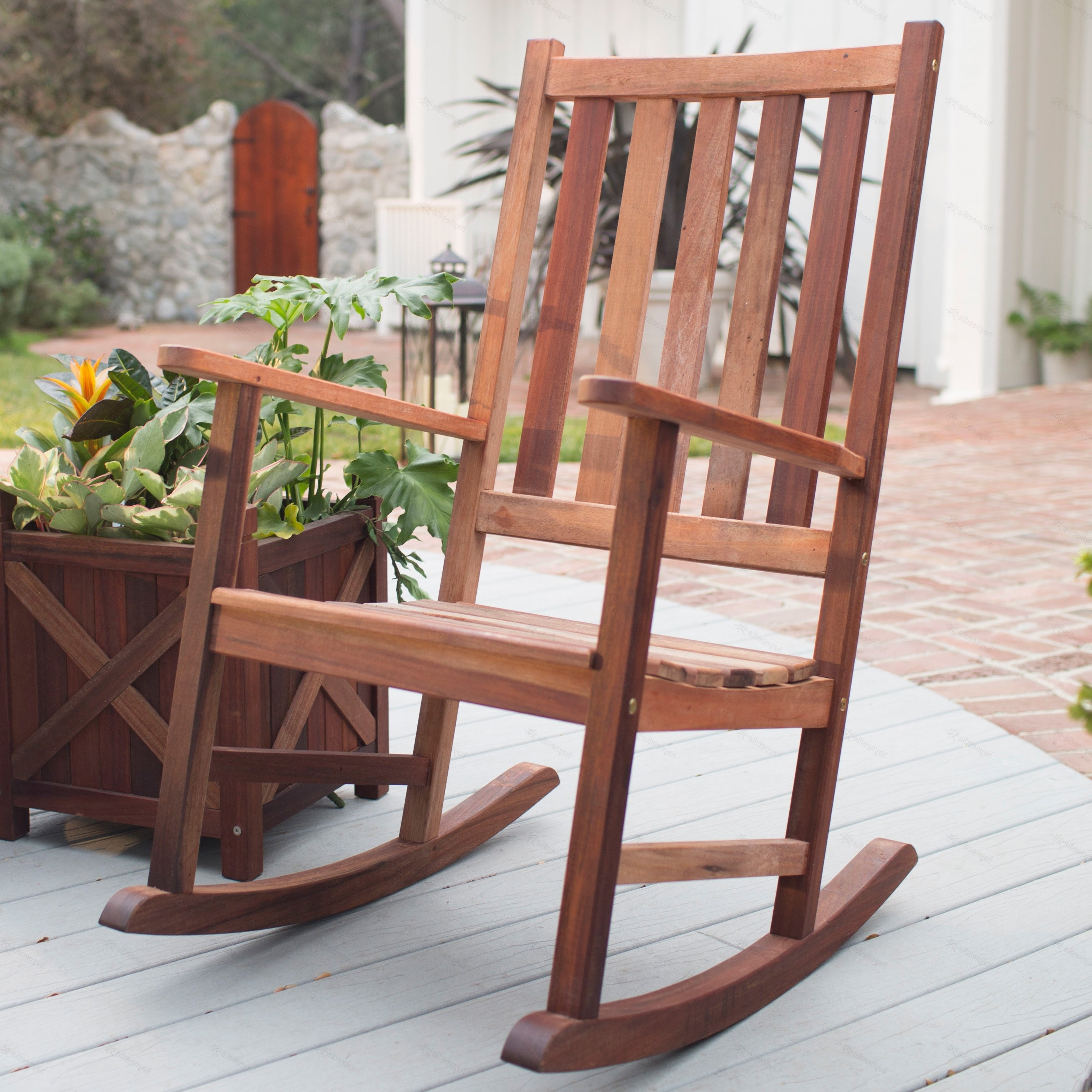 Wooden Patio Rocking Chairs With Well Known Decorating Black Outdoor Rocking Chairs Black Patio Rocking Chair (View 3 of 15)