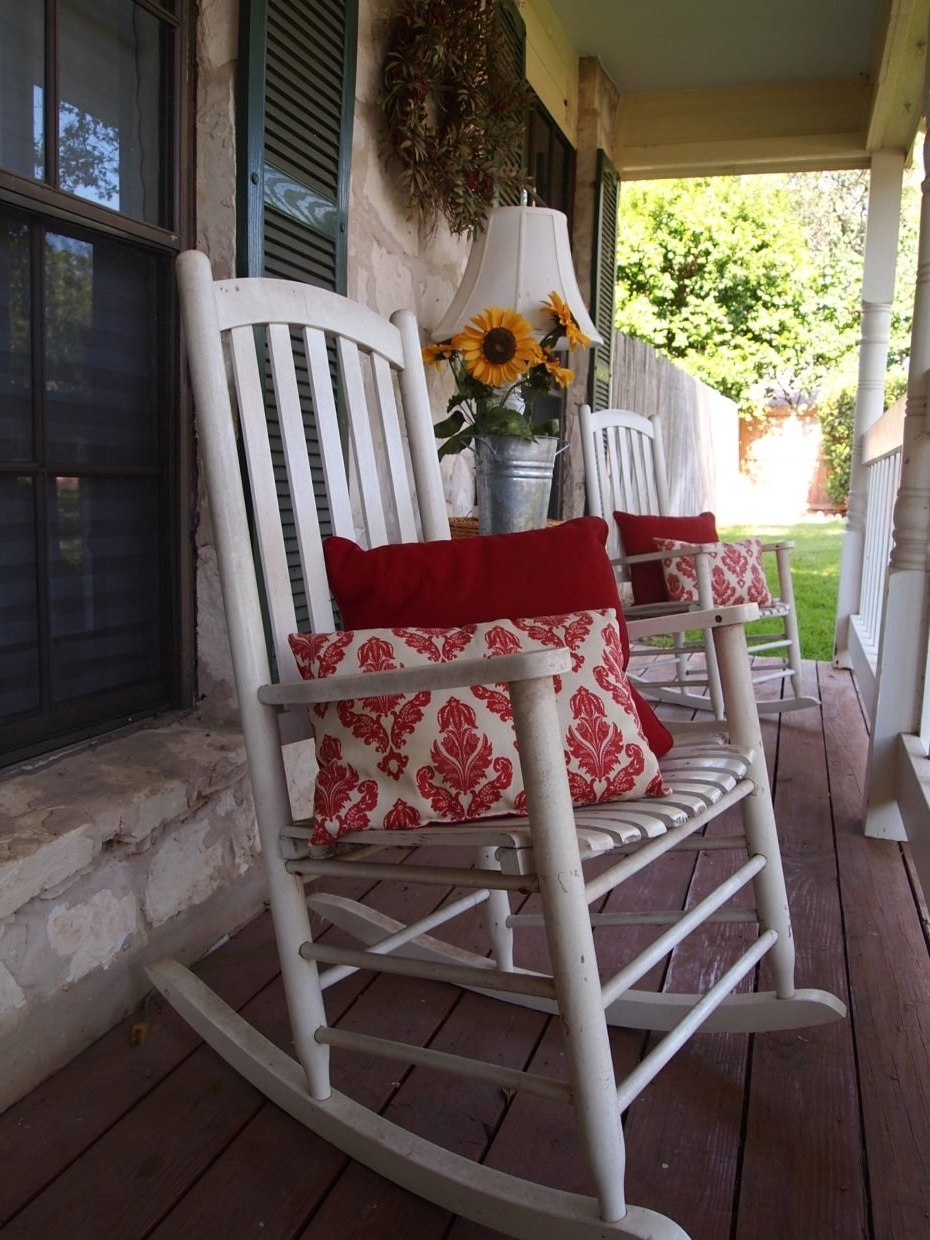 Wooden Rocking Chair Front Porch Home Remodeling Front Porch Rocking Intended For Best And Newest Rocking Chairs For Front Porch (View 13 of 15)