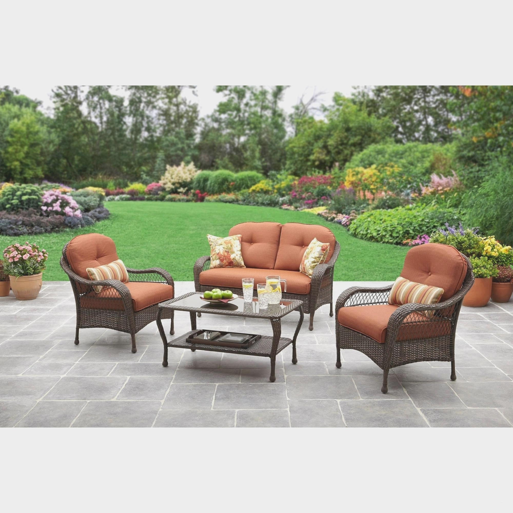 Wrought Iron Outdoor Furniture Lowes Intended For Most Current Patio Conversation Sets At Lowes (View 7 of 15)