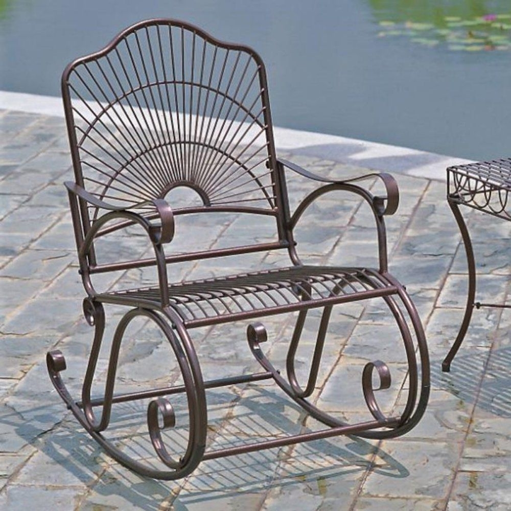 Featured Photo of Wrought Iron Patio Rocking Chairs