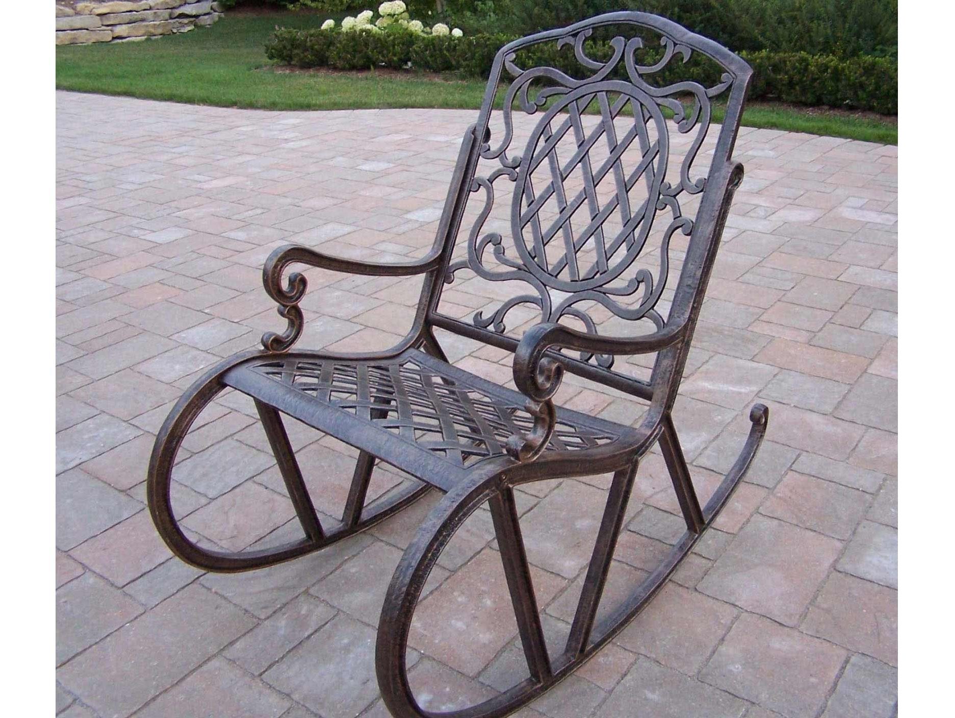 Wrought Iron Rocking Patio Furniture Chairs And Carved — The Home With Regard To Popular Iron Rocking Patio Chairs (View 15 of 15)