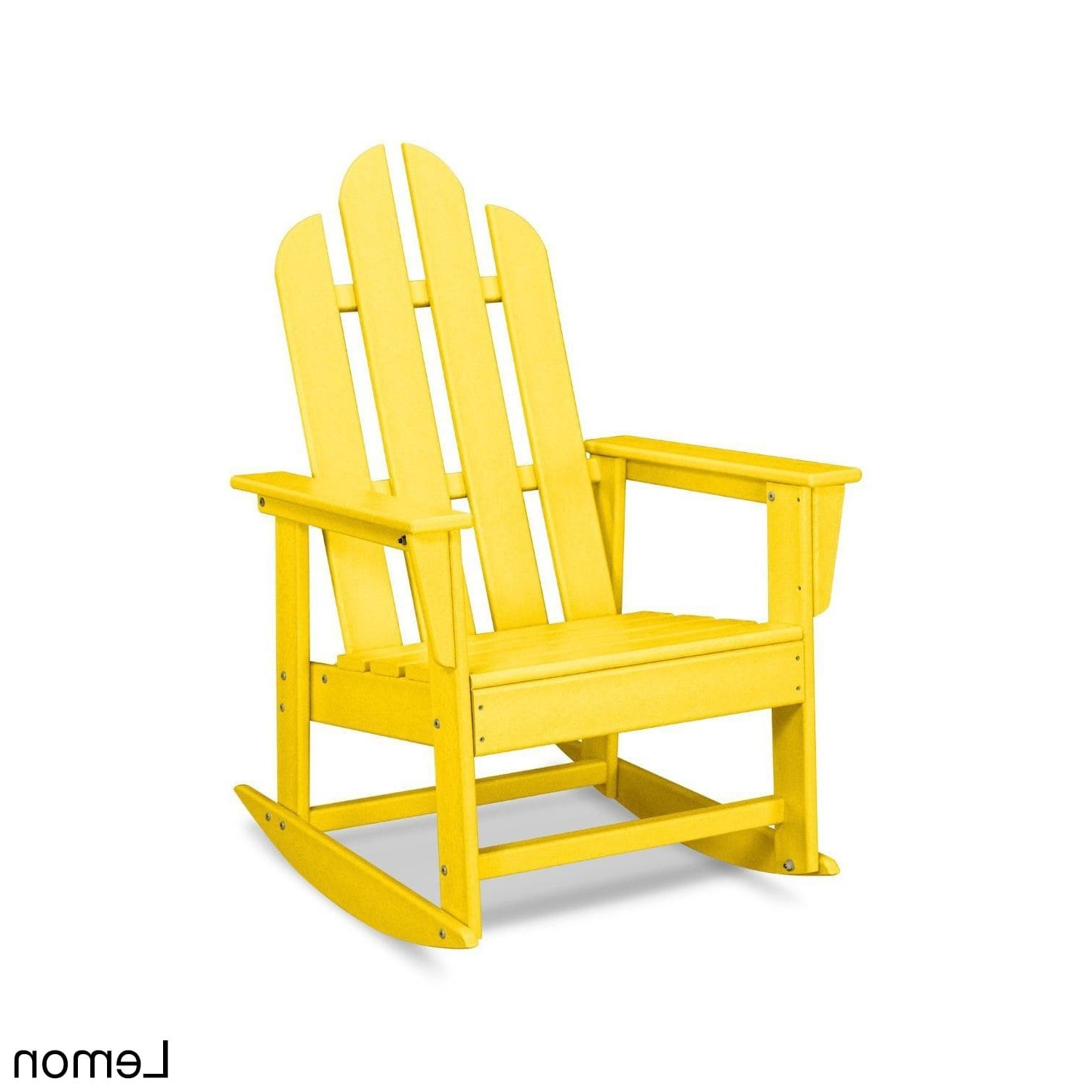 Yellow Outdoor Rocking Chairs Intended For Most Current Shop Polywood Long Island Outdoor Rocking Chair – Free Shipping (View 12 of 15)