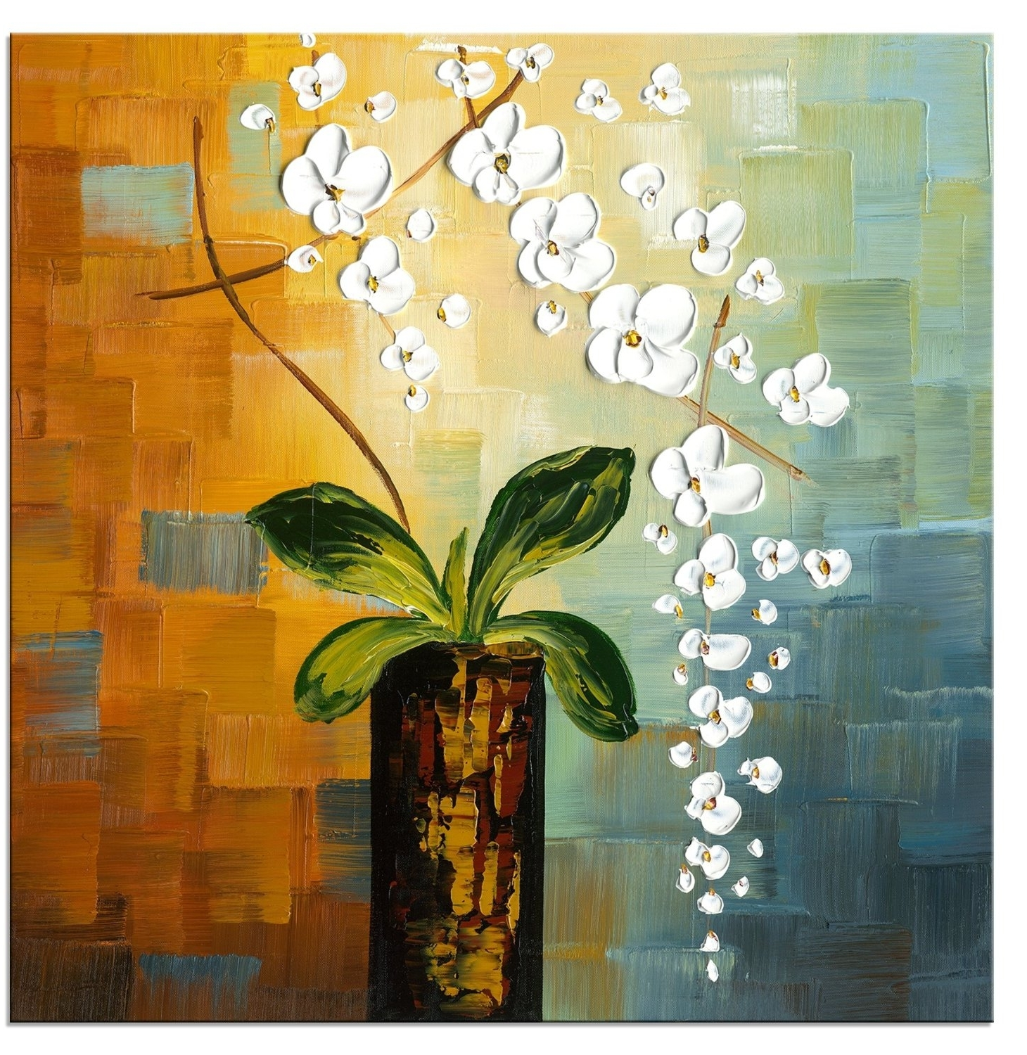1 Pc Floral Canvas Wall Art : Cheap Oil Paintings (View 1 of 15)
