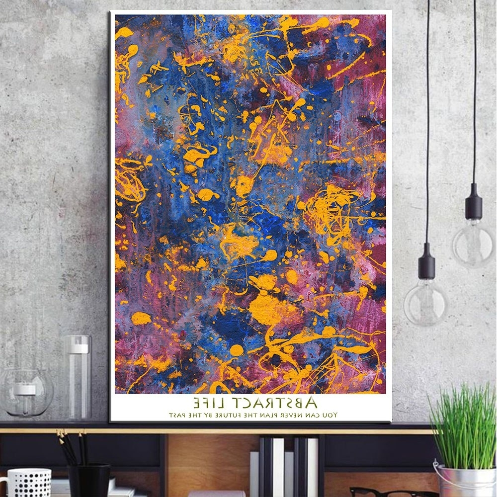 1 Pcs Abstract Graffiti Canvas Print Painting Modern Colorful Wall Within Fashionable Colorful Wall Art (View 1 of 15)