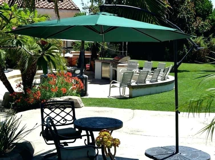 10 Foot Patio Umbrella Offset Patio Umbrella Green Quality Umbrellas In Newest Green Patio Umbrellas (View 11 of 15)