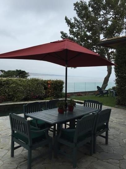 10 Ft Patio Umbrellas Pertaining To Favorite Hampton Bay 10 Ft. X 6 Ft. Aluminum Patio Umbrella In Chili With (Gallery 11 of 15)